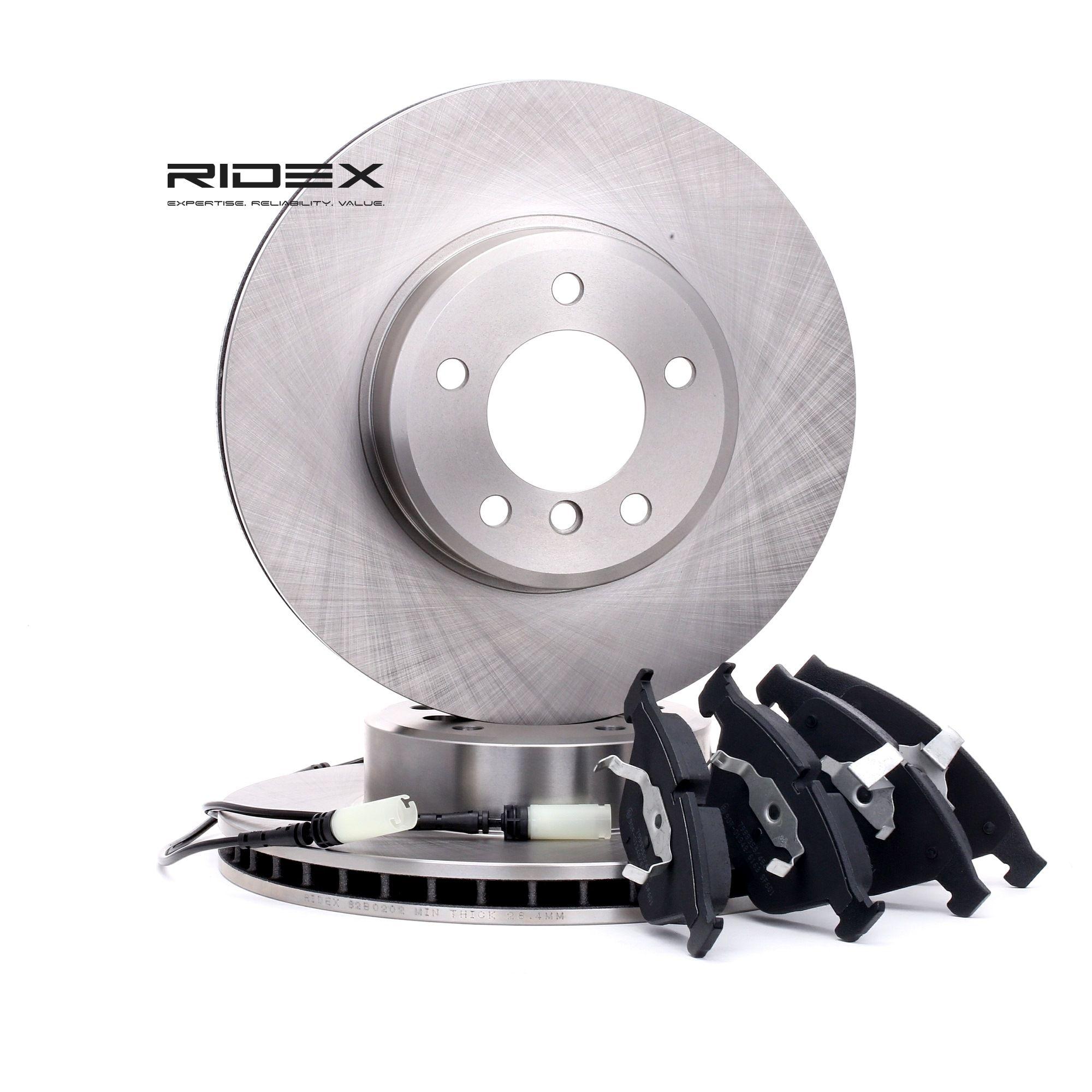RIDEX: Original Bremsscheiben und Bremsbeläge 3405B0213 (Bremsscheibendicke: 30mm)