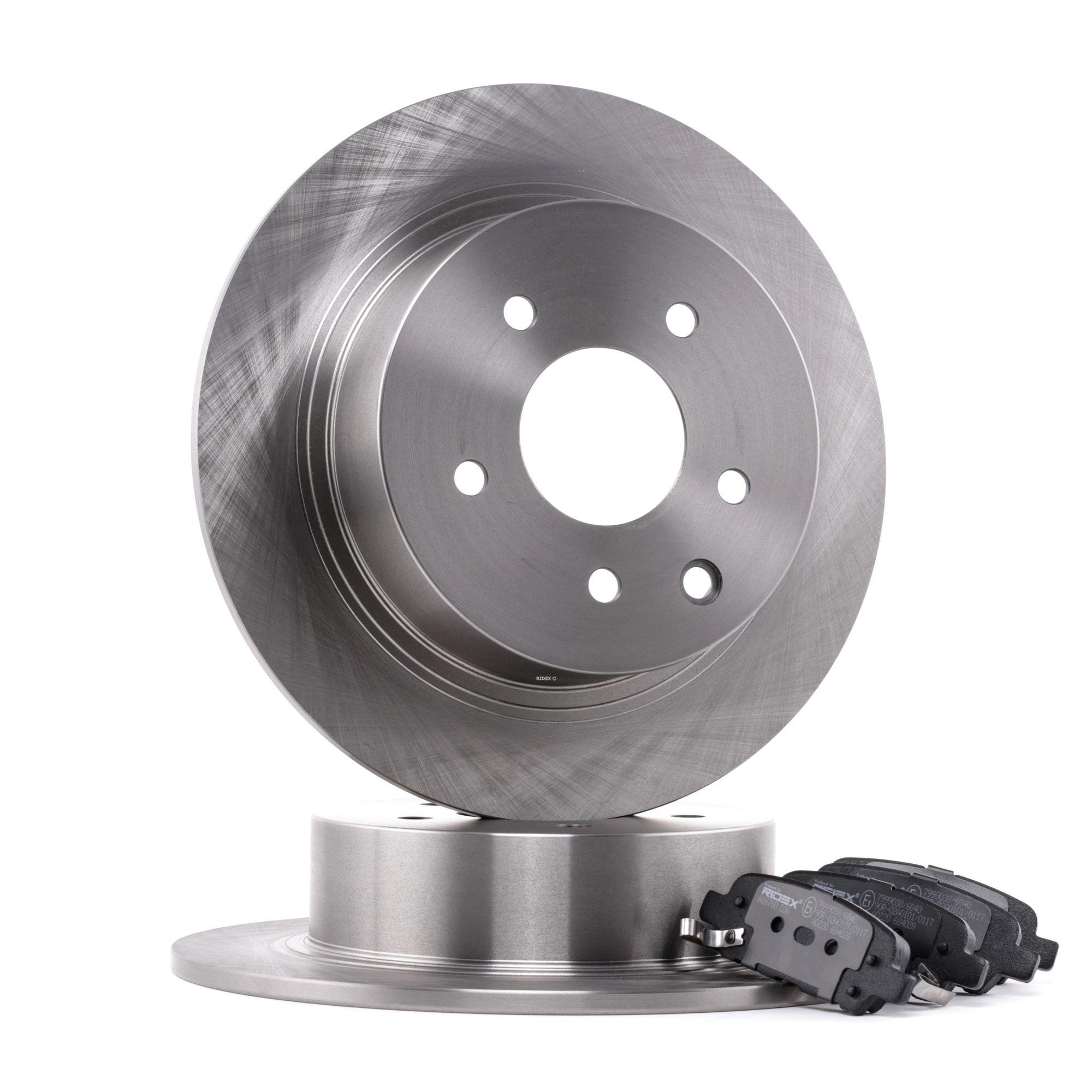 RIDEX: Original Bremsscheiben und Beläge 3405B0280 (Bremsscheibendicke: 14,3, 9mm)