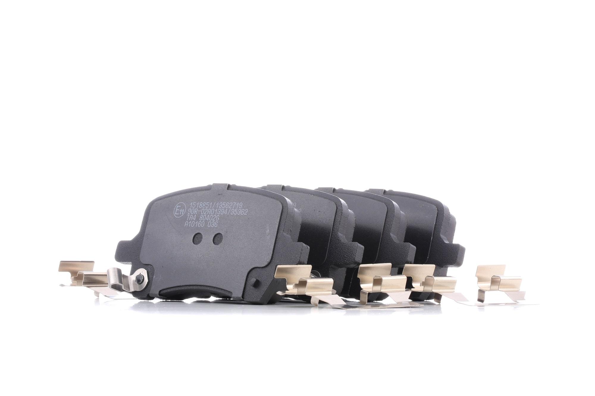 402B1286 RIDEX Vorderachse, mit akustischer Verschleißwarnung Höhe: 59,5mm, Breite: 119mm, Dicke/Stärke: 18,5mm Bremsbelagsatz, Scheibenbremse 402B1286 günstig kaufen