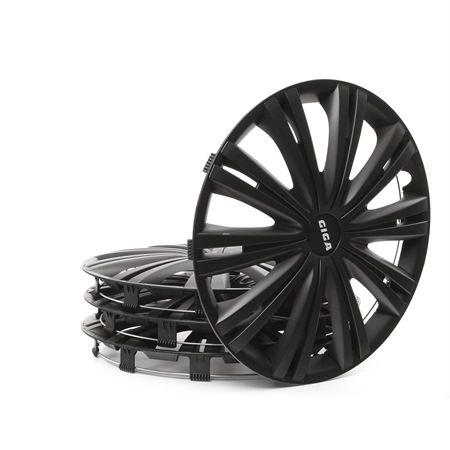 15 GIGA BLACK Hjulkapslar svart, 15tum från ARGO till låga priser – köp nu!