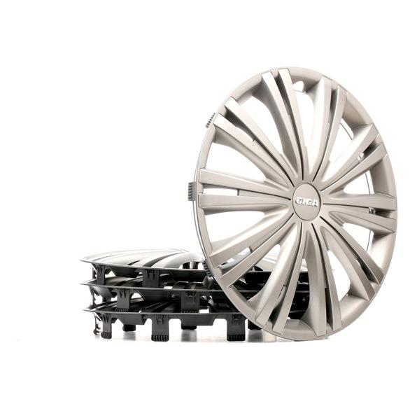 15 GIGA DARK Fälgkapslar svart/silver, 15tum från ARGO till låga priser – köp nu!