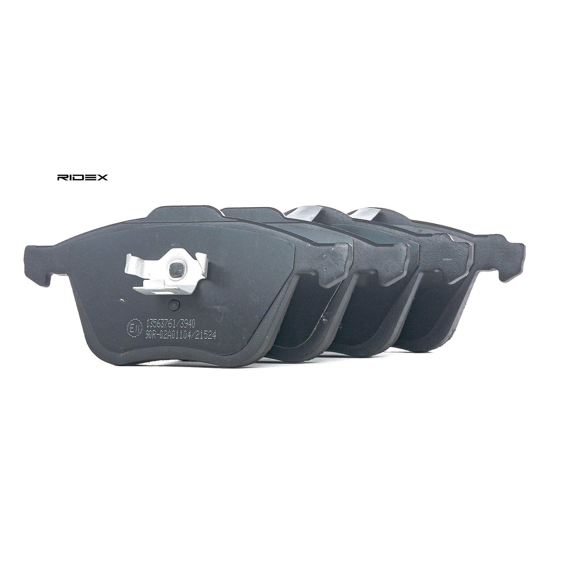 402B1290 RIDEX Vorderachse Höhe 1: 71mm, Höhe 2: 72mm, Dicke/Stärke 1: 18,2mm, Dicke/Stärke 2: 19,7mm Bremsbelagsatz, Scheibenbremse 402B1290 günstig kaufen