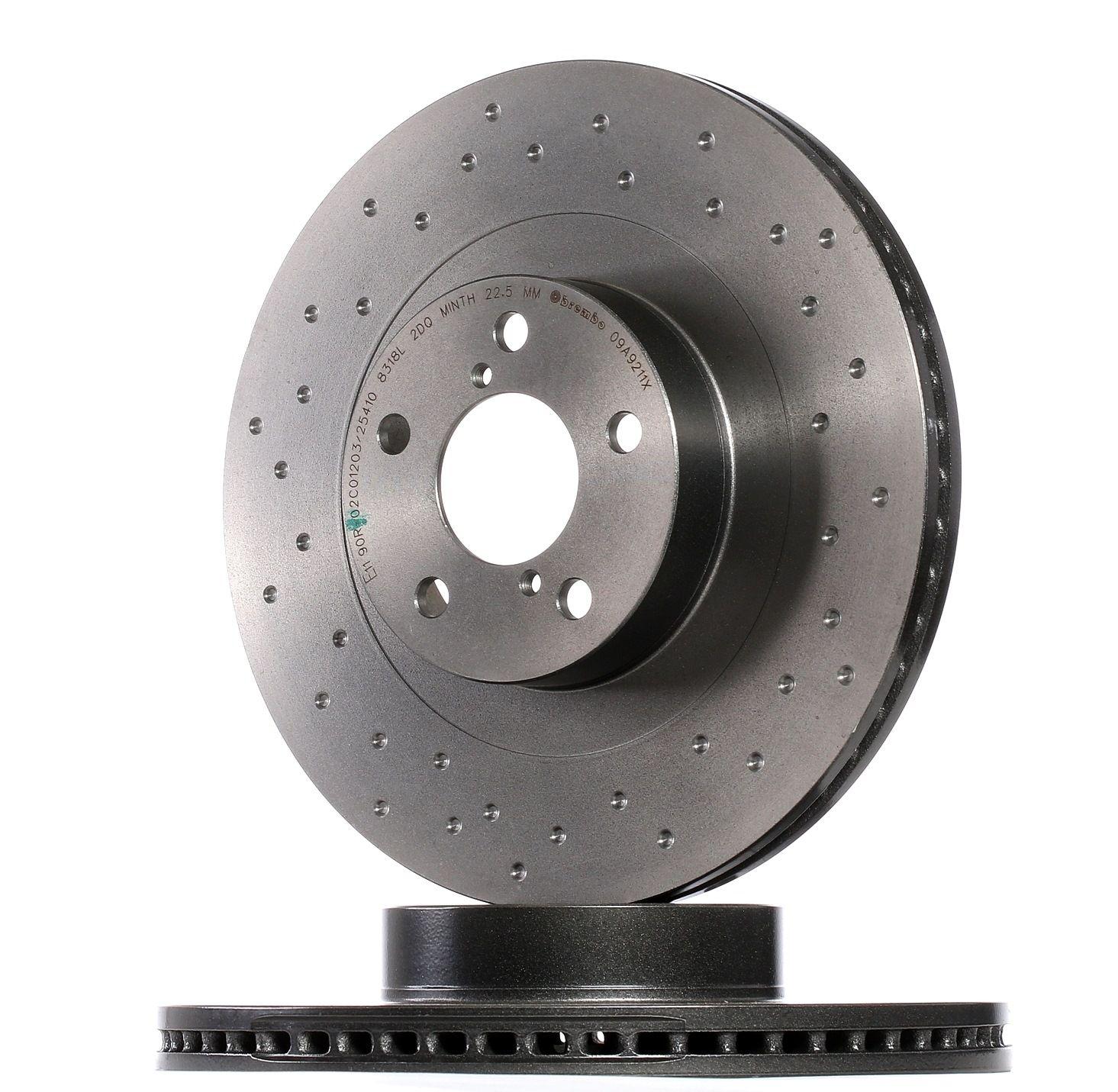 BREMBO: Original Bremsscheibe 09.A921.1X (Ø: 293mm, Lochanzahl: 5, Bremsscheibendicke: 24mm)