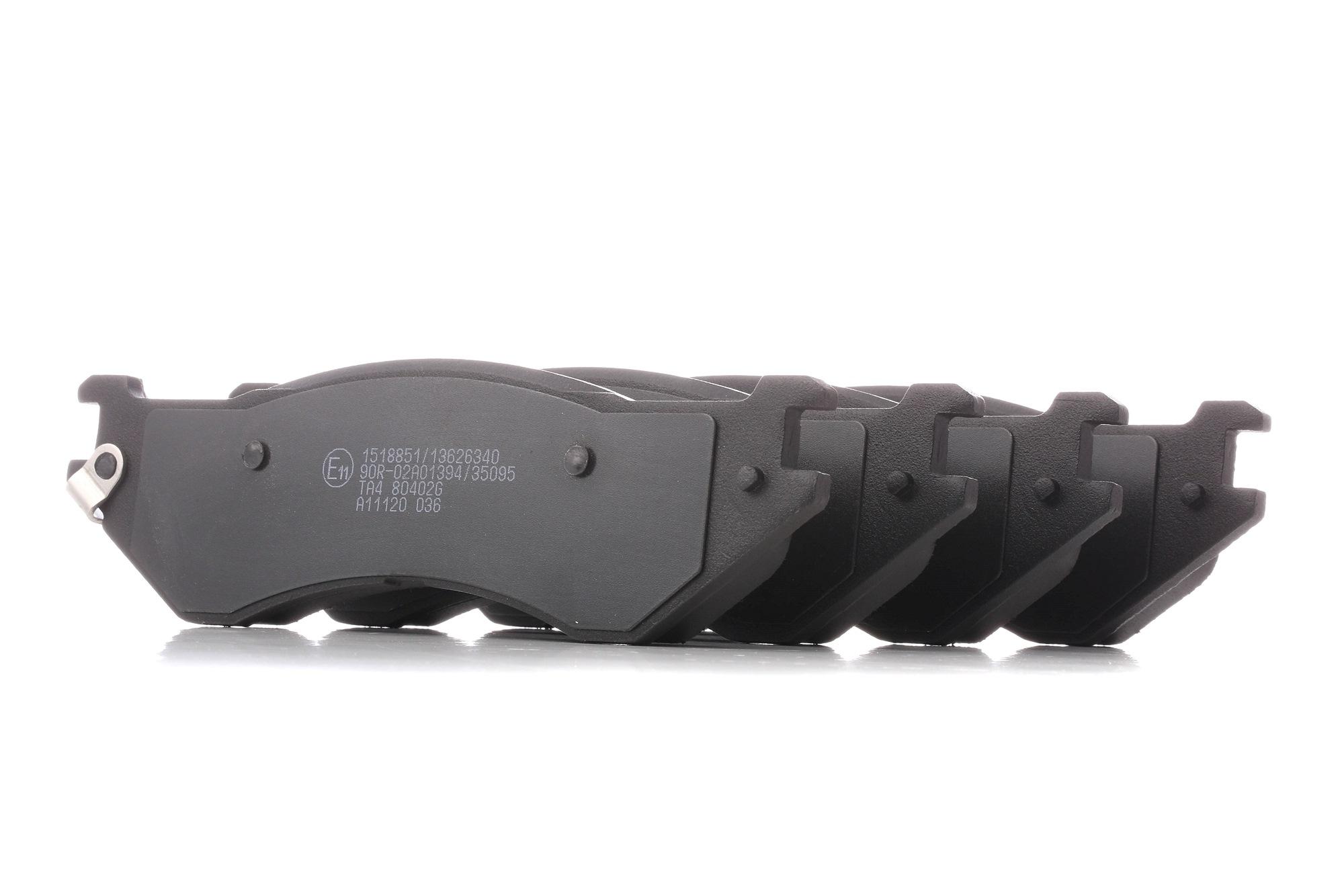 DODGE DURANGO 2021 Bremsklötze - Original RIDEX 402B1295 Höhe: 56,5mm, Breite: 188,5mm, Dicke/Stärke: 16,5mm