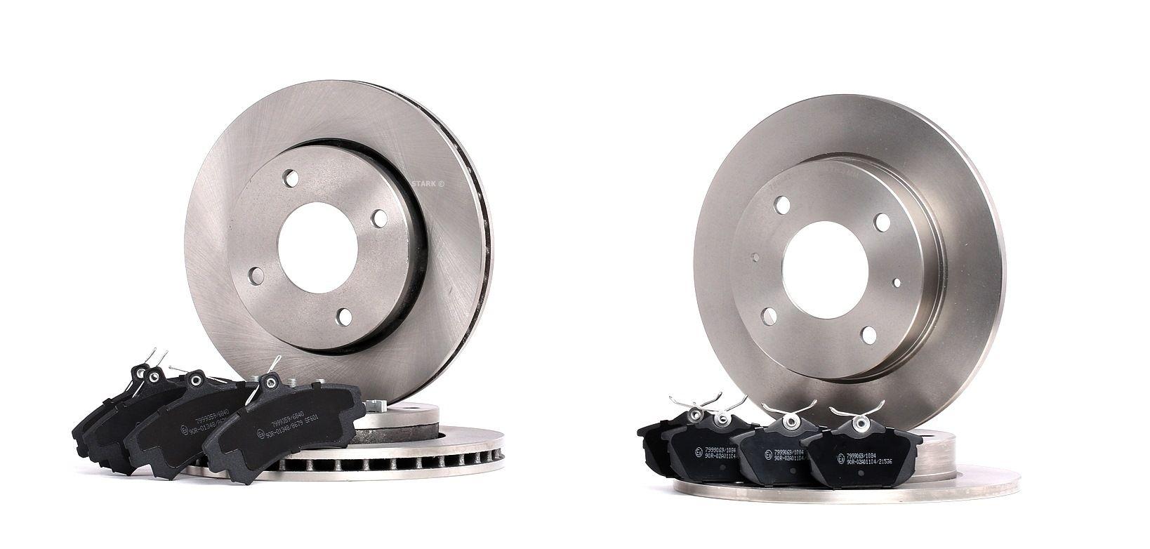 RIDEX: Original Bremsscheiben und Beläge 3405B0230 (Ø: mm, Bremsscheibendicke: 10, 25mm)