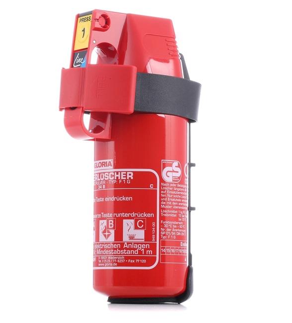 1403.0000 Hasicí přístroje 1,7kg, -30 + 60°C, Práškový, 1kg, 275/95/130 mm od GLORIA za nízké ceny – nakupovat teď!