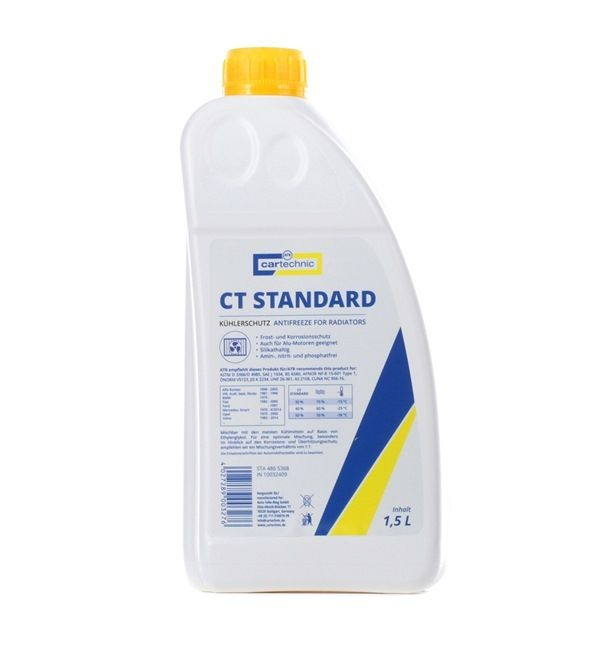 CARTECHNIC Antifreeze Yellow, Capacity: 1,5l 4027289003276