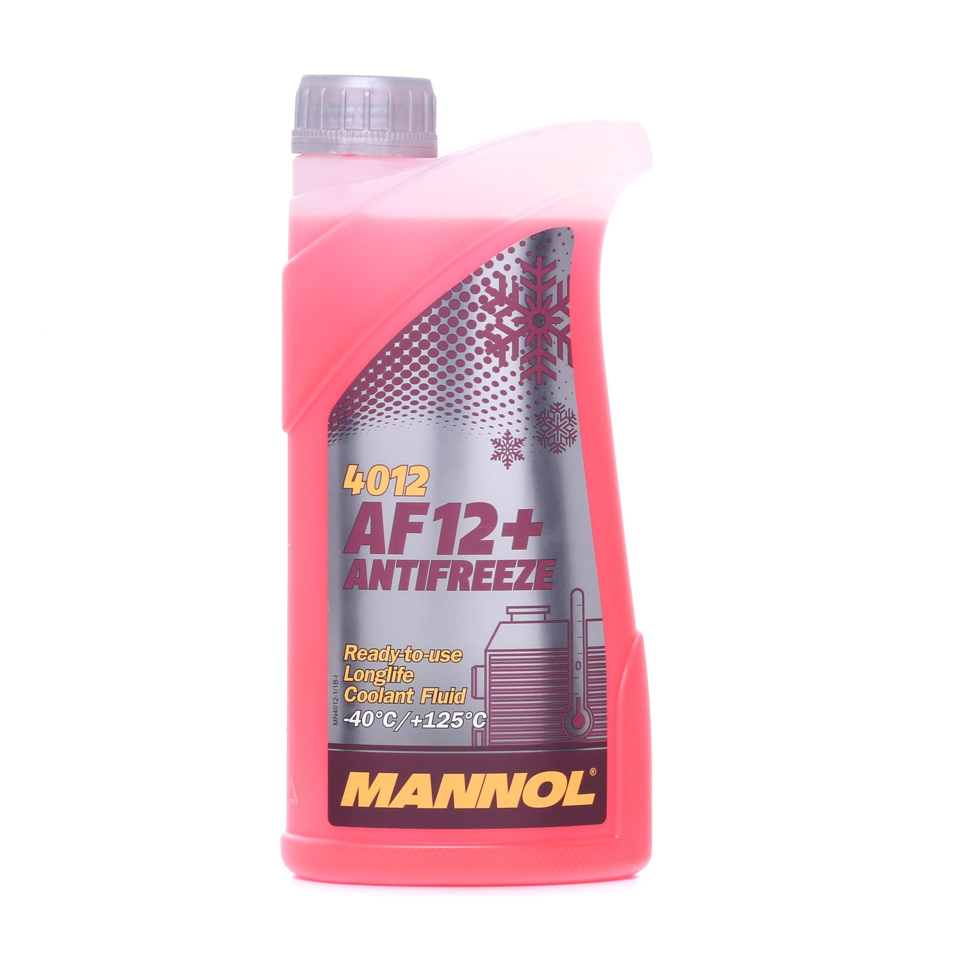 MANNOL: Original Kühlerfrostschutz MN4012-1 (G12+, Temperaturbereich von: -40°C)