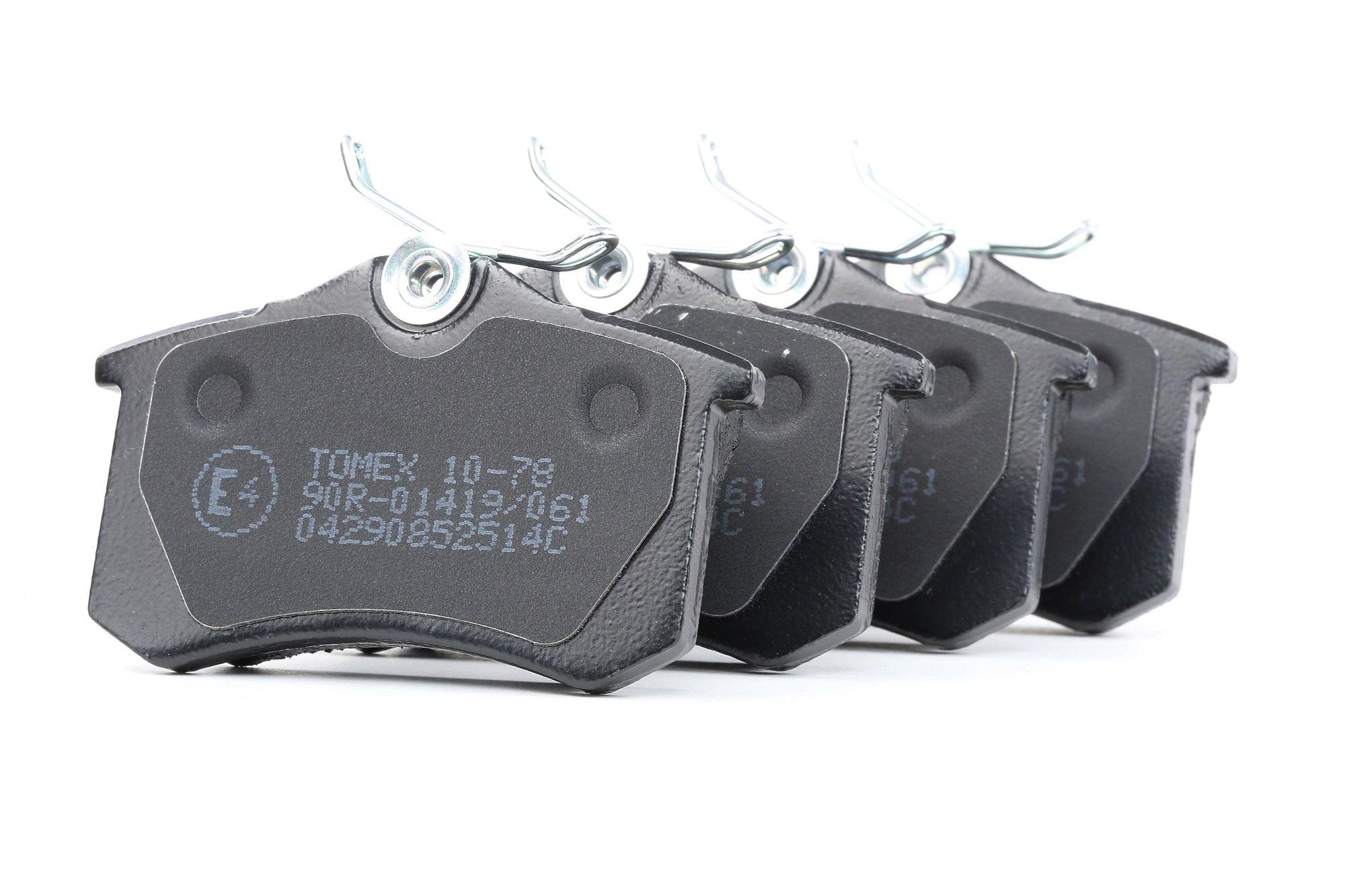 23554 TOMEX brakes Hinterachse Höhe: 52,9mm, Breite: 87mm, Dicke/Stärke: 15mm Bremsbelagsatz, Scheibenbremse TX 10-78 günstig kaufen