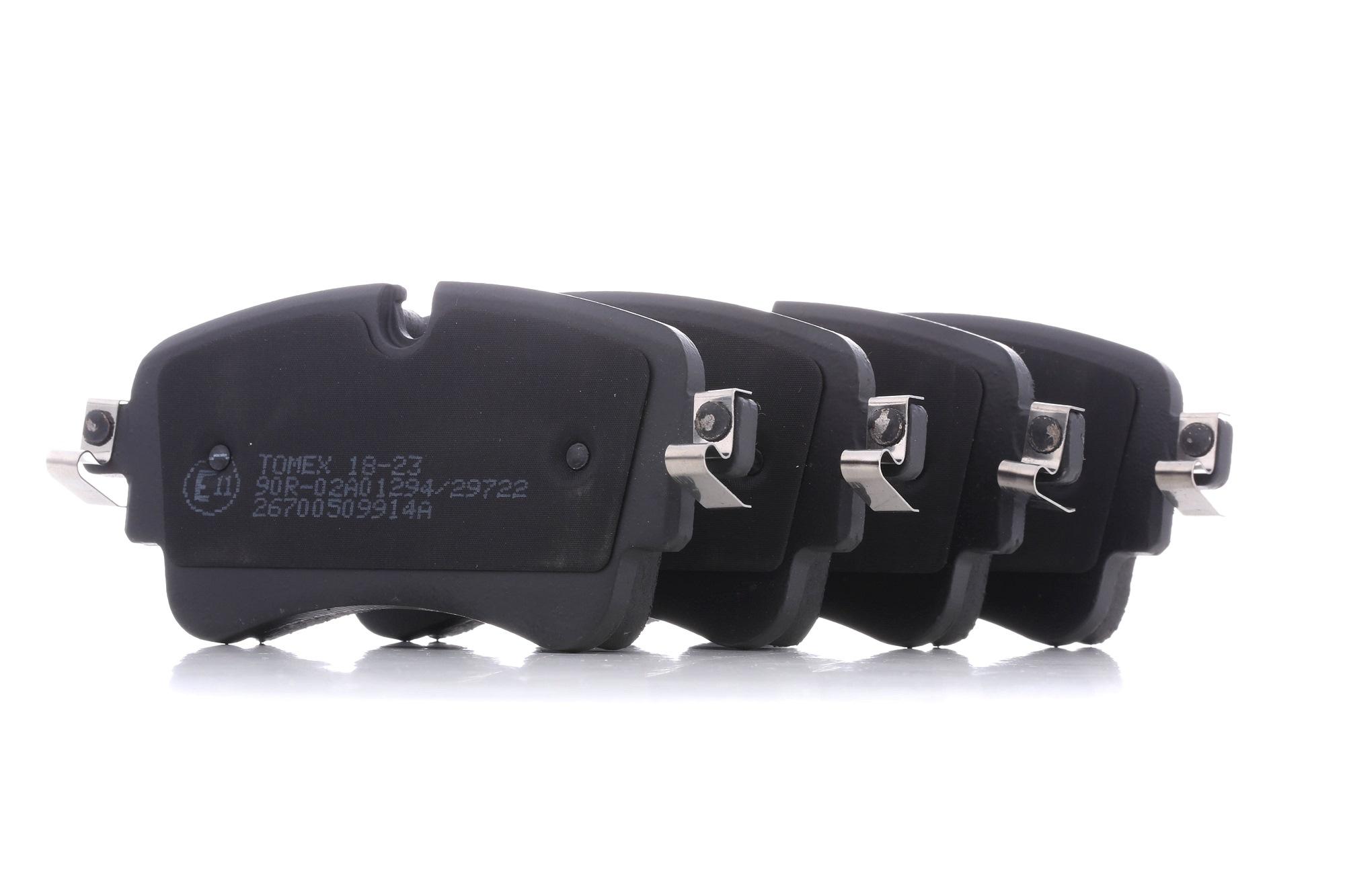 OE Original Bremsbelagsatz Scheibenbremse TX 18-23 TOMEX brakes