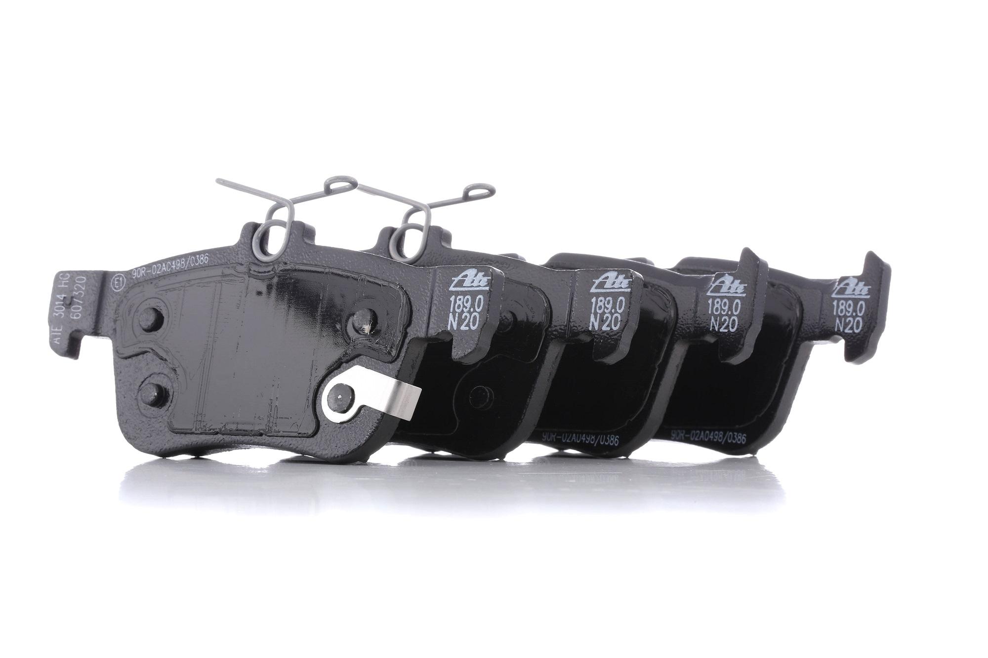 22233 ATE mit akustischer Verschleißwarnung Höhe 1: 48,2mm, Höhe 2: 53,4mm, Breite 1: 123,0mm, Breite 2: 123,0mm, Dicke/Stärke: 16,1mm Bremsbelagsatz, Scheibenbremse 13.0460-7320.2 günstig kaufen