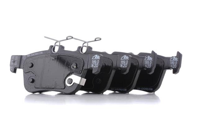 ATE: Original Bremsklötze 13.0460-7320.2 (Höhe 1: 48,2mm, Höhe 2: 53,4mm, Breite 2: 123,0mm, Dicke/Stärke: 16,1mm)