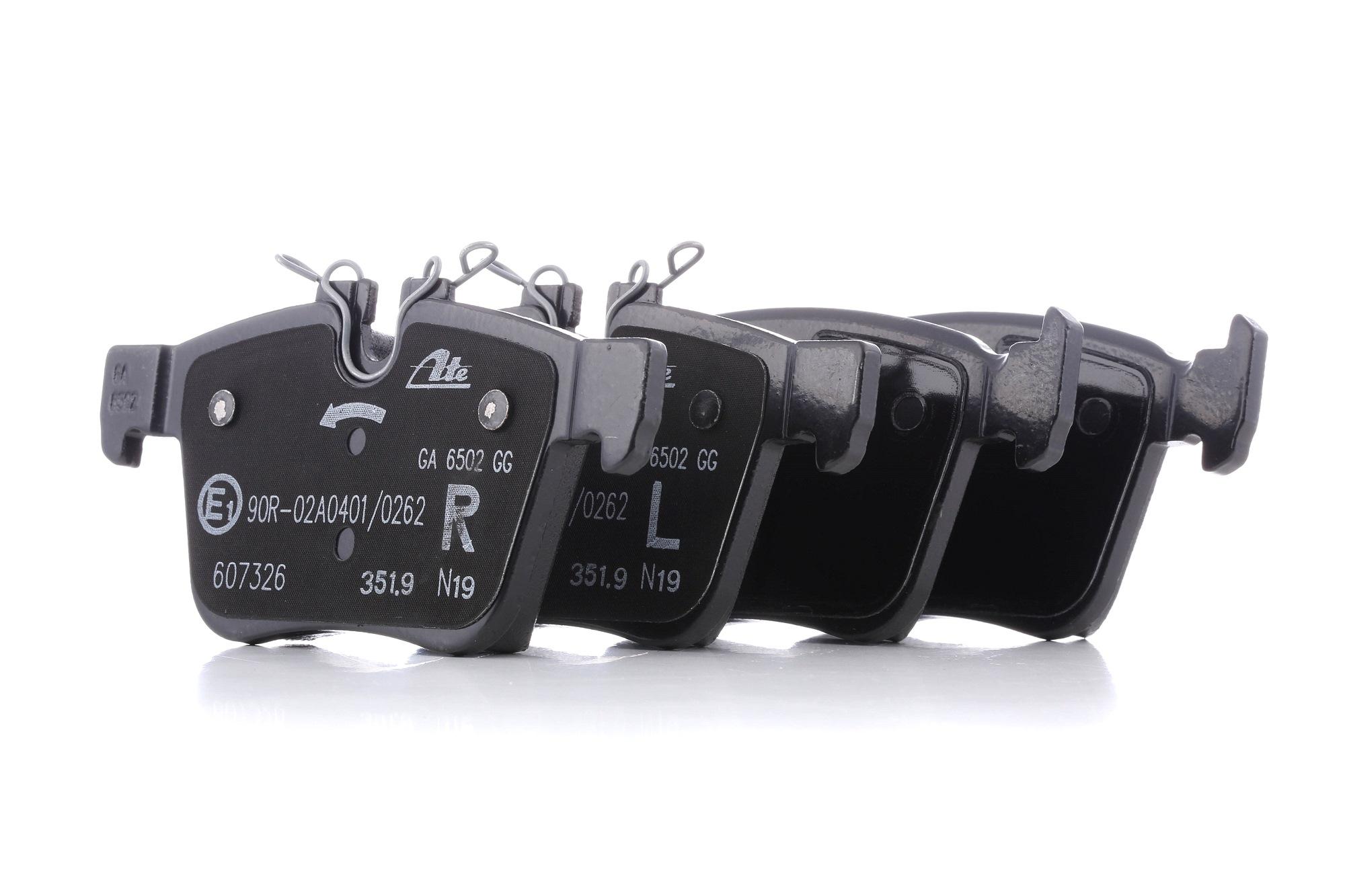 22142 ATE exkl. Verschleißwarnkontakt, für Verschleißwarnanzeiger vorbereitet Höhe 1: 56,2mm, Höhe 2: 59,7mm, Breite 1: 122,4mm, Breite 2: 122,4mm, Dicke/Stärke: 15,5mm Bremsbelagsatz, Scheibenbremse 13.0460-7326.2 günstig kaufen
