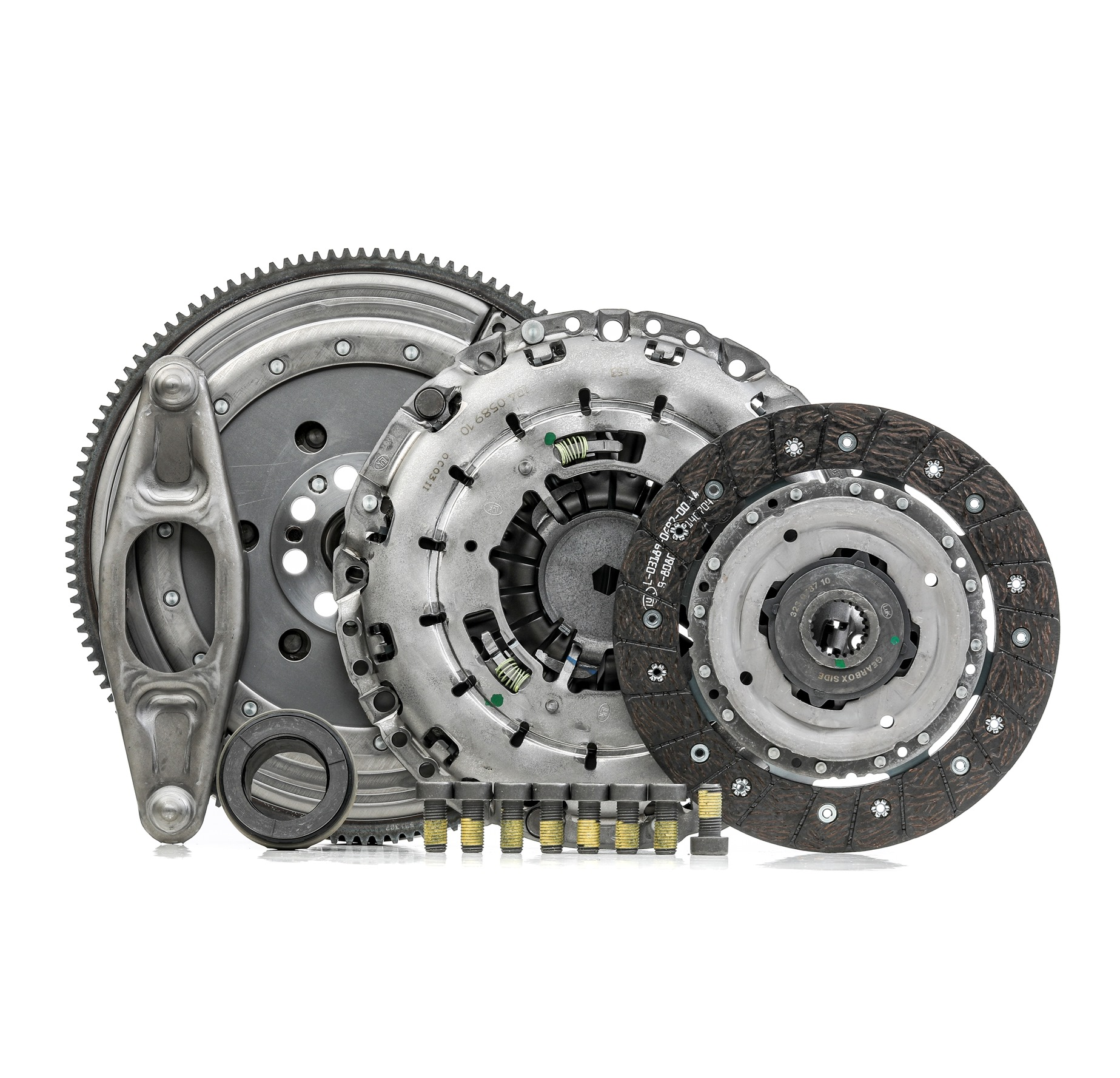 BMW 1 Series 2015 Clutch set LuK 600 0296 00: with pilot bearing, Dual-mass flywheel without friction control plate, with clutch release bearing, with flywheel, with screw set