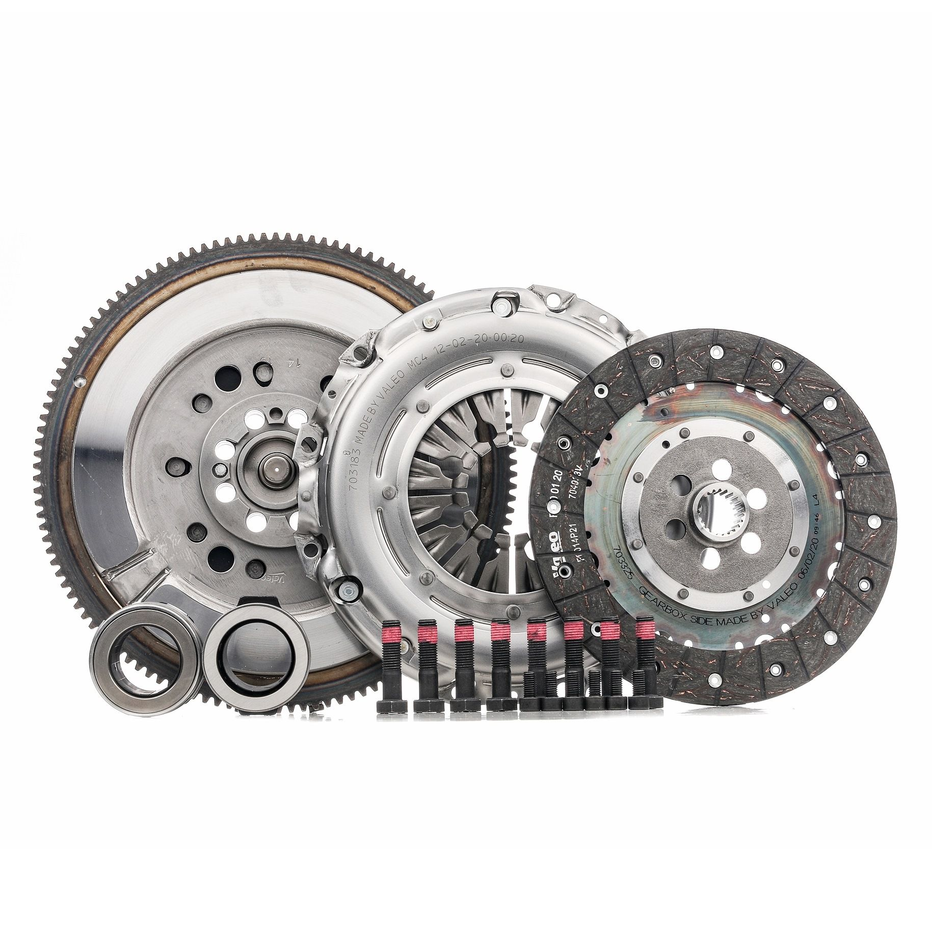 BMW 5 Series 2015 Clutch set VALEO 837093: for engines with dual-mass flywheel, with clutch pressure plate, with clutch plate, with clutch release bearing, with flywheel, with lock screw set, with screw set