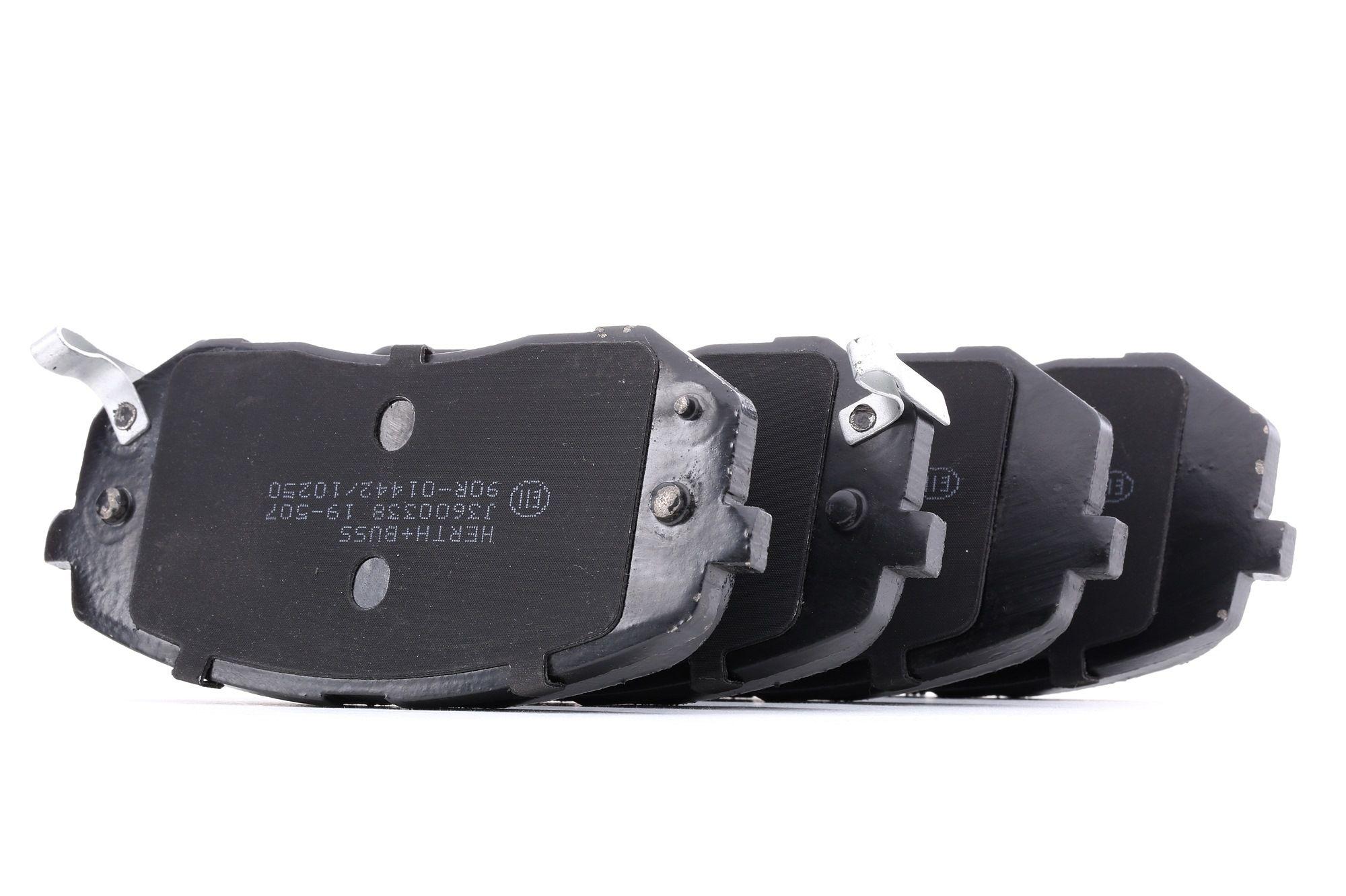 J3600338 HERTH+BUSS JAKOPARTS mit akustischer Verschleißwarnung, mit Anti-Quietsch-Blech Höhe 1: 61mm, Höhe 2: 61mm, Breite 1: 138mm, Breite 2: 138mm, Dicke/Stärke 1: 16,7mm, Dicke/Stärke 2: 16,7mm Bremsbelagsatz, Scheibenbremse J3600338 günstig kaufen