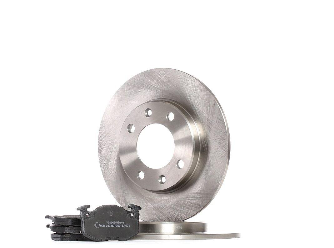RIDEX: Original Bremsscheiben und Bremsbeläge 3405B0330 ()