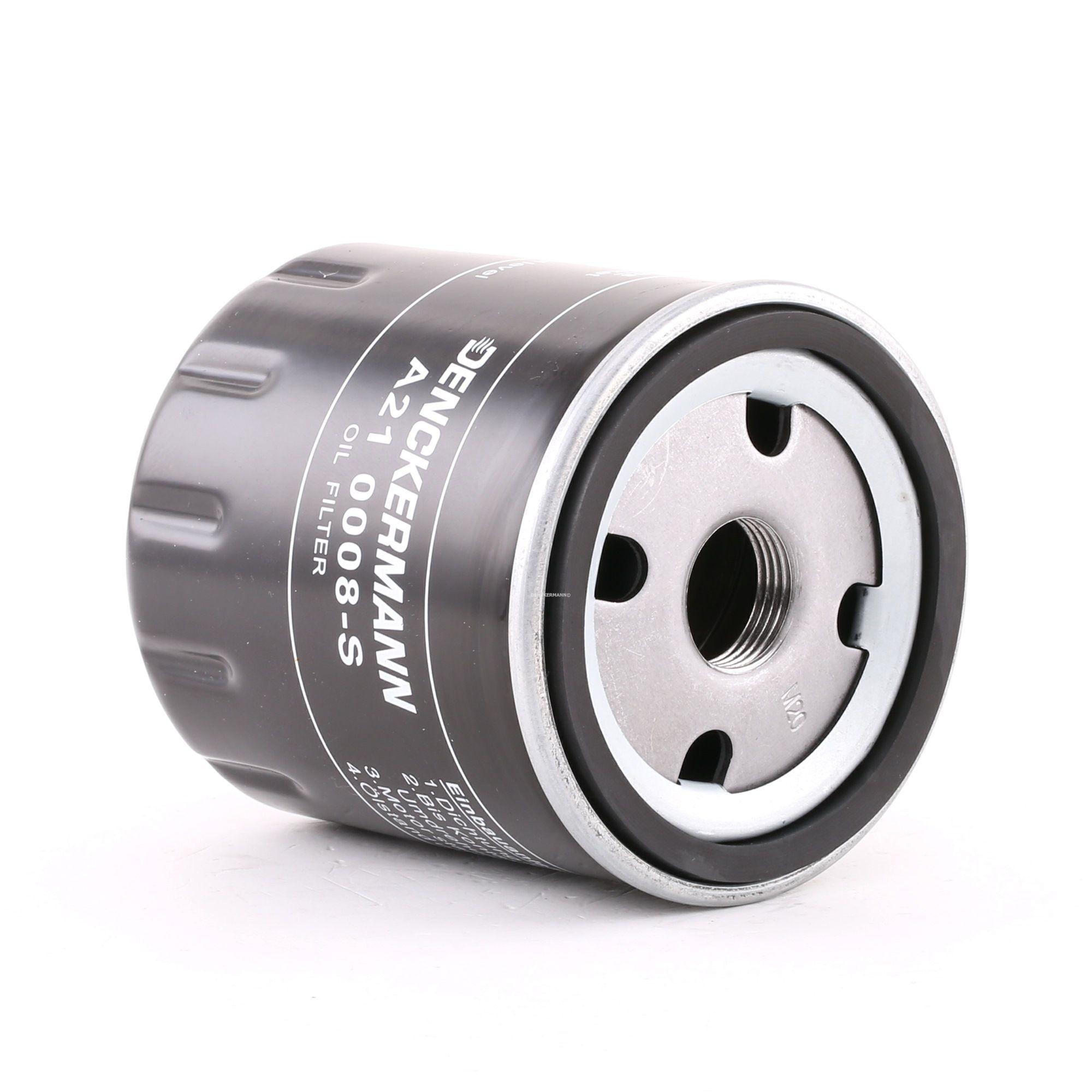 Origine Filtre à huile DENCKERMANN A210008-S (Diamètre intérieur 2: 72mm, Diamètre intérieur 2: 63mm, Hauteur: 88mm)