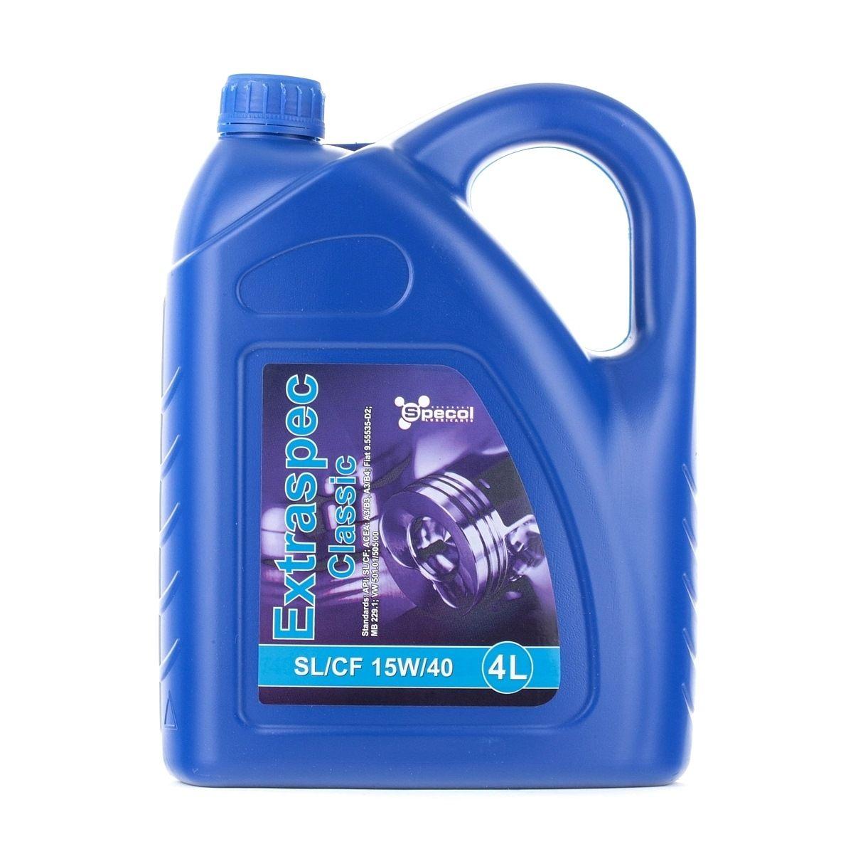 Comprare 100858 SPECOL Extraspec, Classic 15W-40, 4l Olio motore 100858 poco costoso