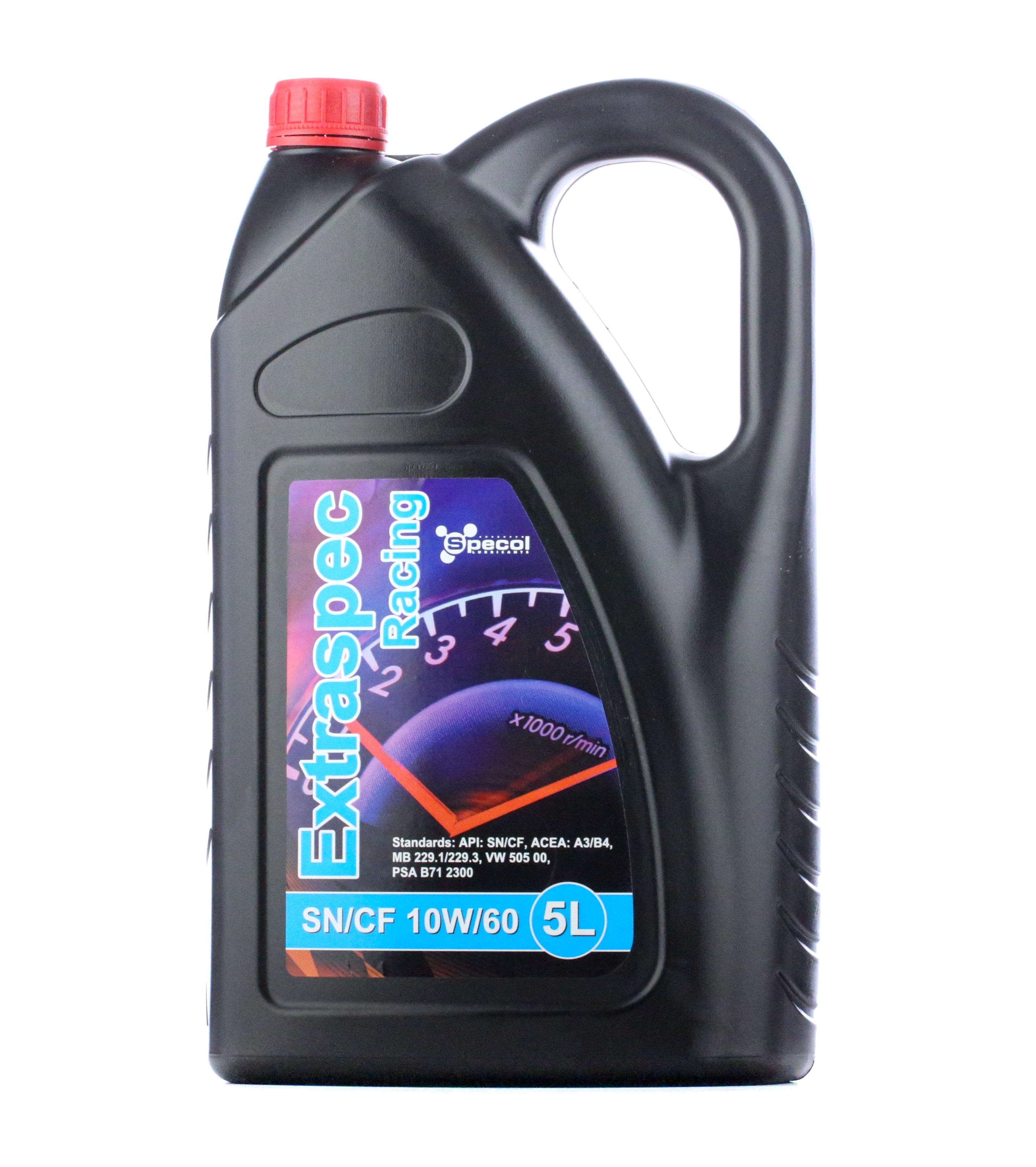 Comprare 100883 SPECOL Extraspec, Racing 10W-60, 5l Olio motore 100883 poco costoso
