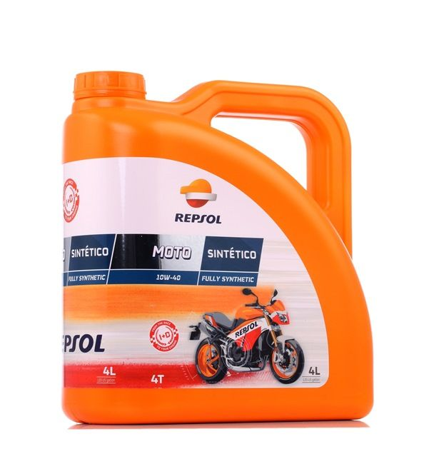 REPSOL MOTO, Sintetico 4T Engine Oil 10W-40, 4l, Full Synthetic Oil RP163N54