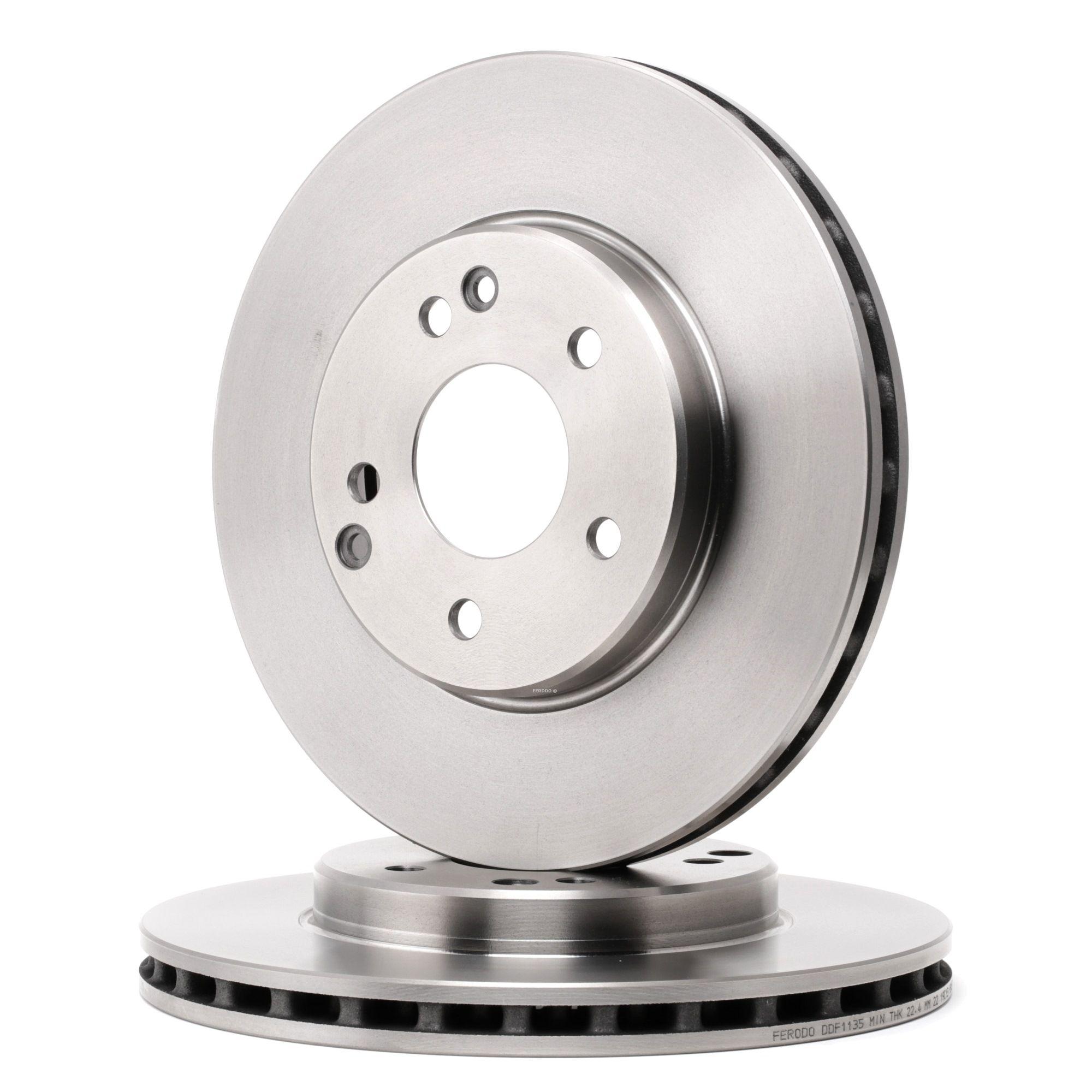 Dischi freno DDF1135 con un ottimo rapporto FERODO qualità/prezzo