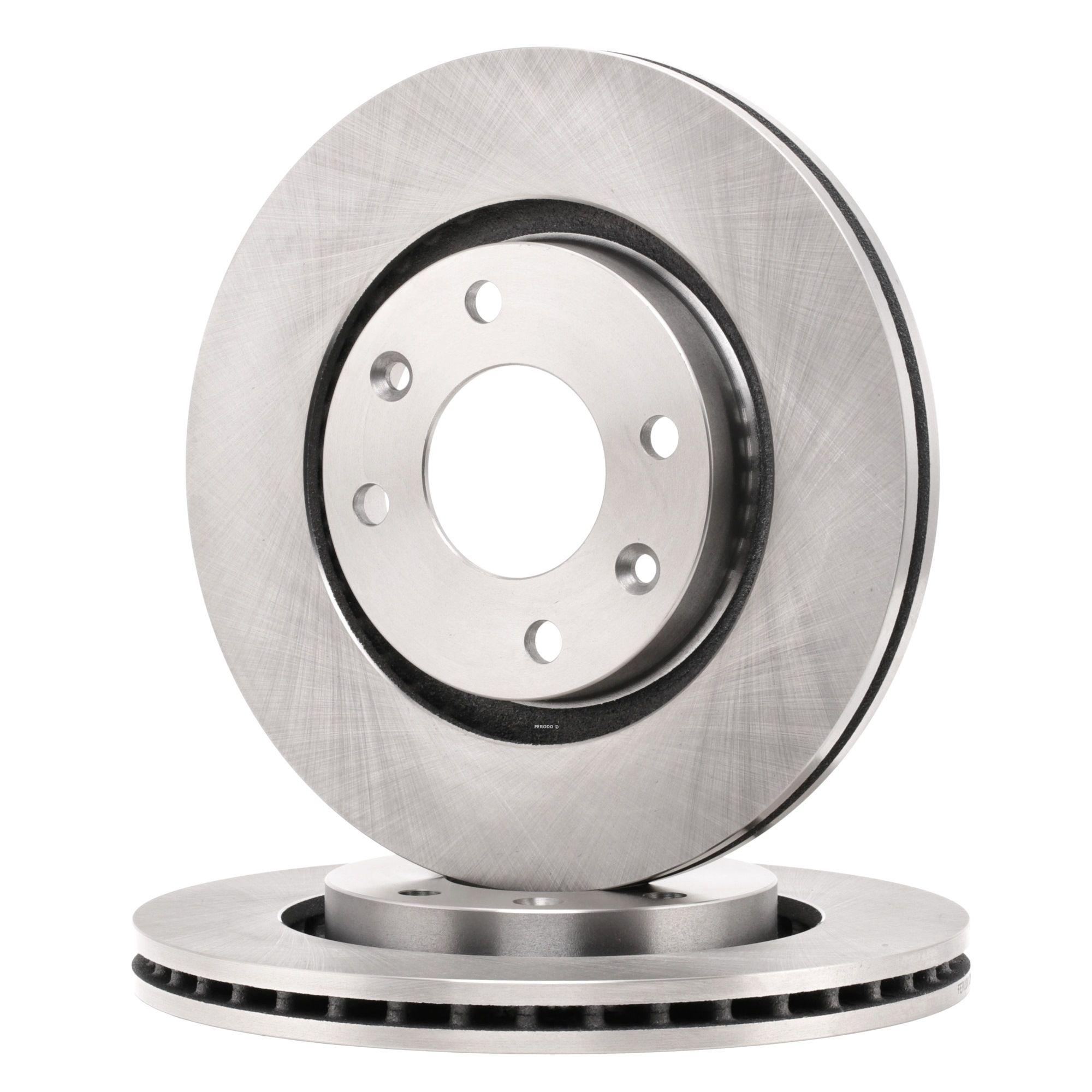 PEUGEOT 1007 2015 Bremsscheibe - Original FERODO DDF1140 Ø: 266mm, Lochanzahl: 4, Bremsscheibendicke: 22mm