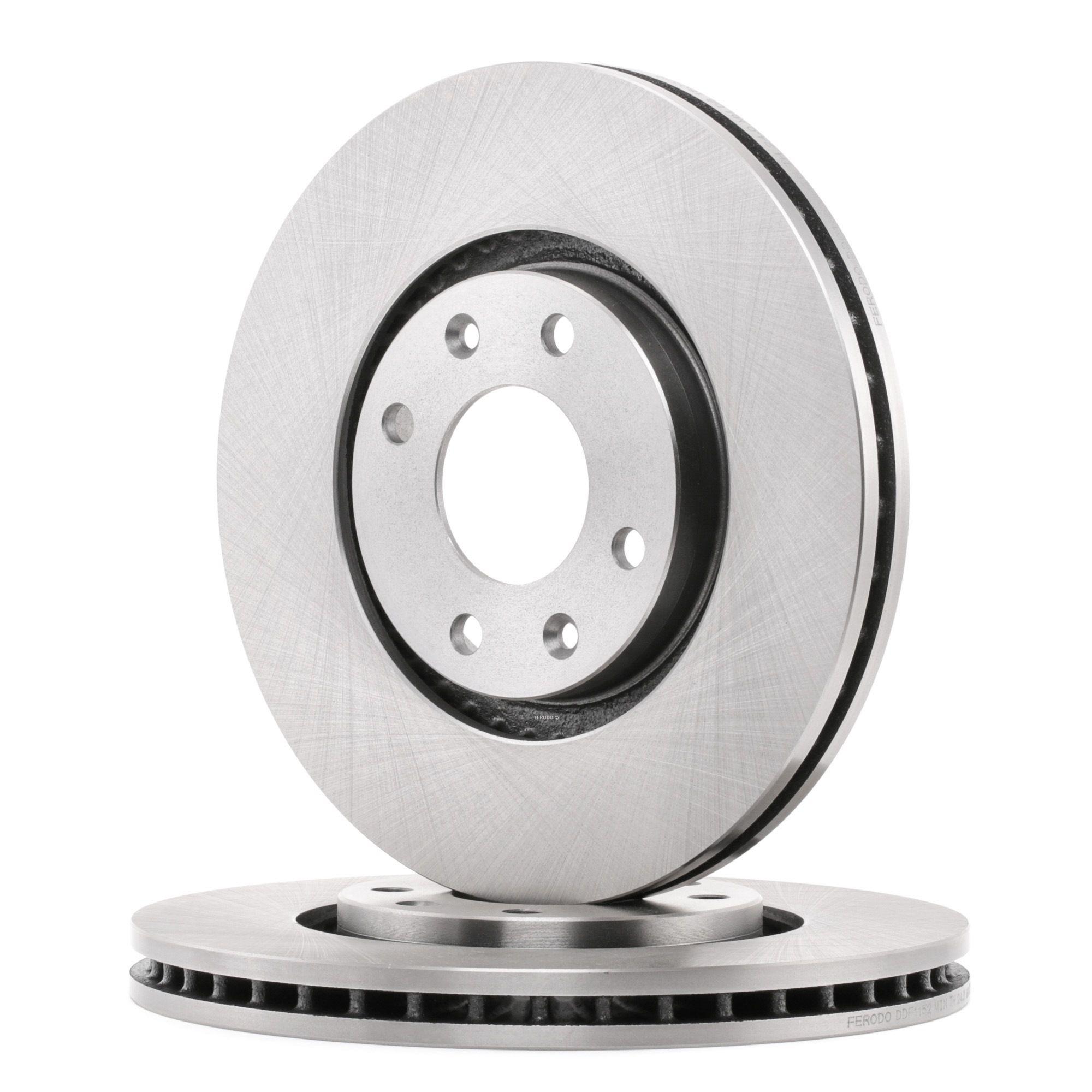 Achetez Disque de frein FERODO DDF1152 (Ø: 283mm, Nbre de trous: 4, Épaisseur du disque de frein: 26mm) à un rapport qualité-prix exceptionnel