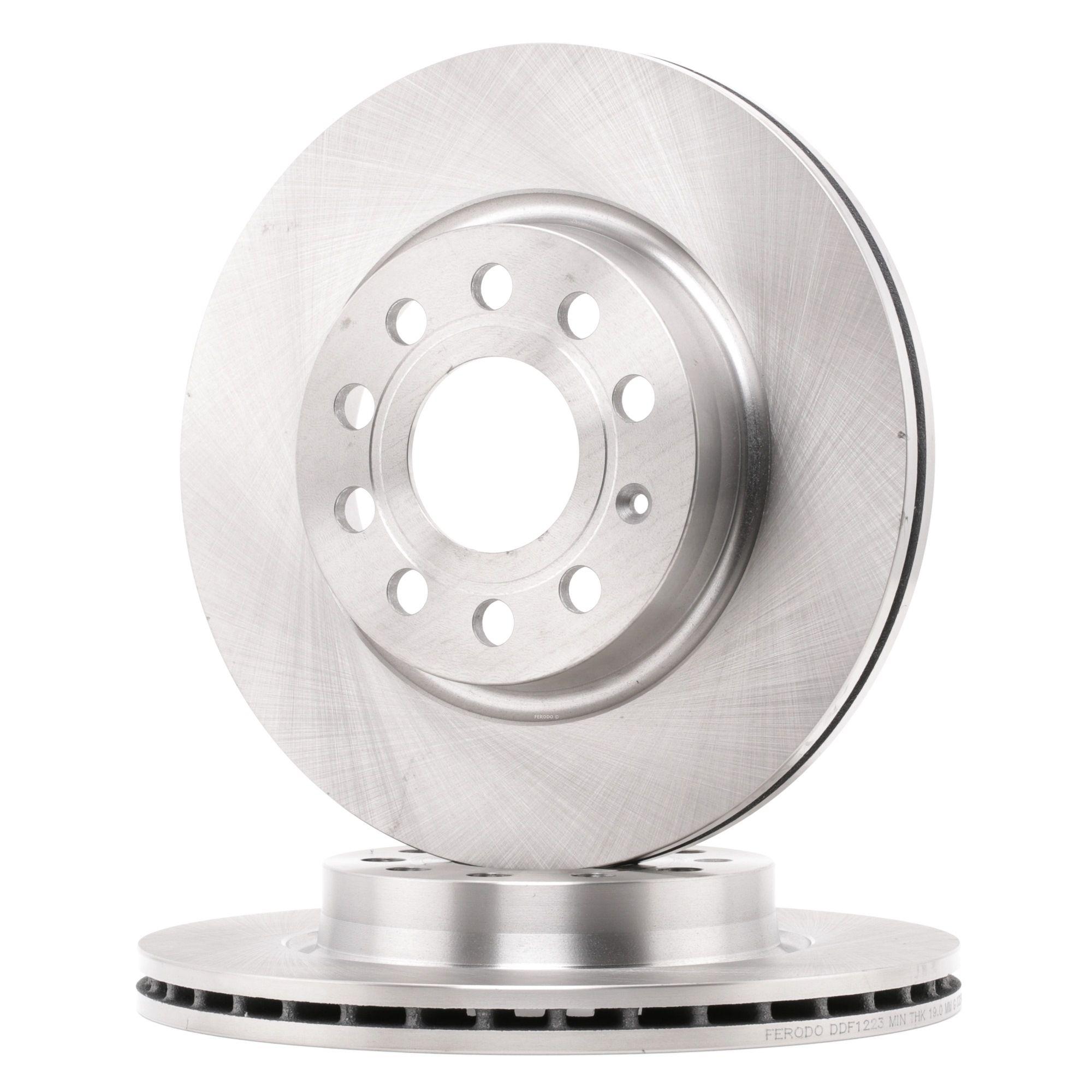 DDF1223 FERODO PREMIER ventilado, con tornillos Ø: 280mm, Núm. orificios: 5, Espesor disco freno: 22mm Disco de freno DDF1223 a buen precio