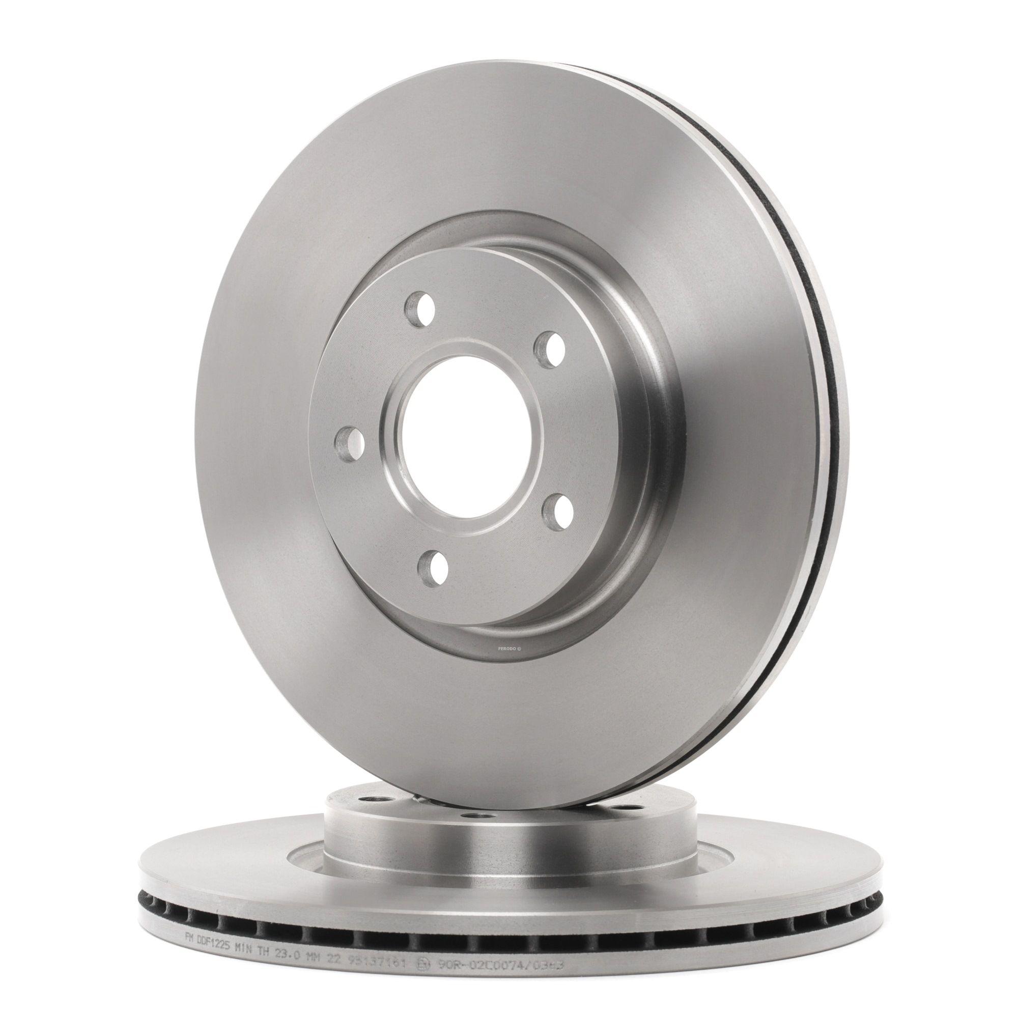 Origine Freins FERODO DDF1225 (Ø: 300mm, Nbre de trous: 5, Épaisseur du disque de frein: 25mm)