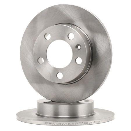 Pieces detachees VOLKSWAGEN 1500/1600 1972 : Disque de frein FERODO DDF929 Ø: 232mm, Nbre de trous: 5, Épaisseur du disque de frein: 9mm - Achetez tout de suite!