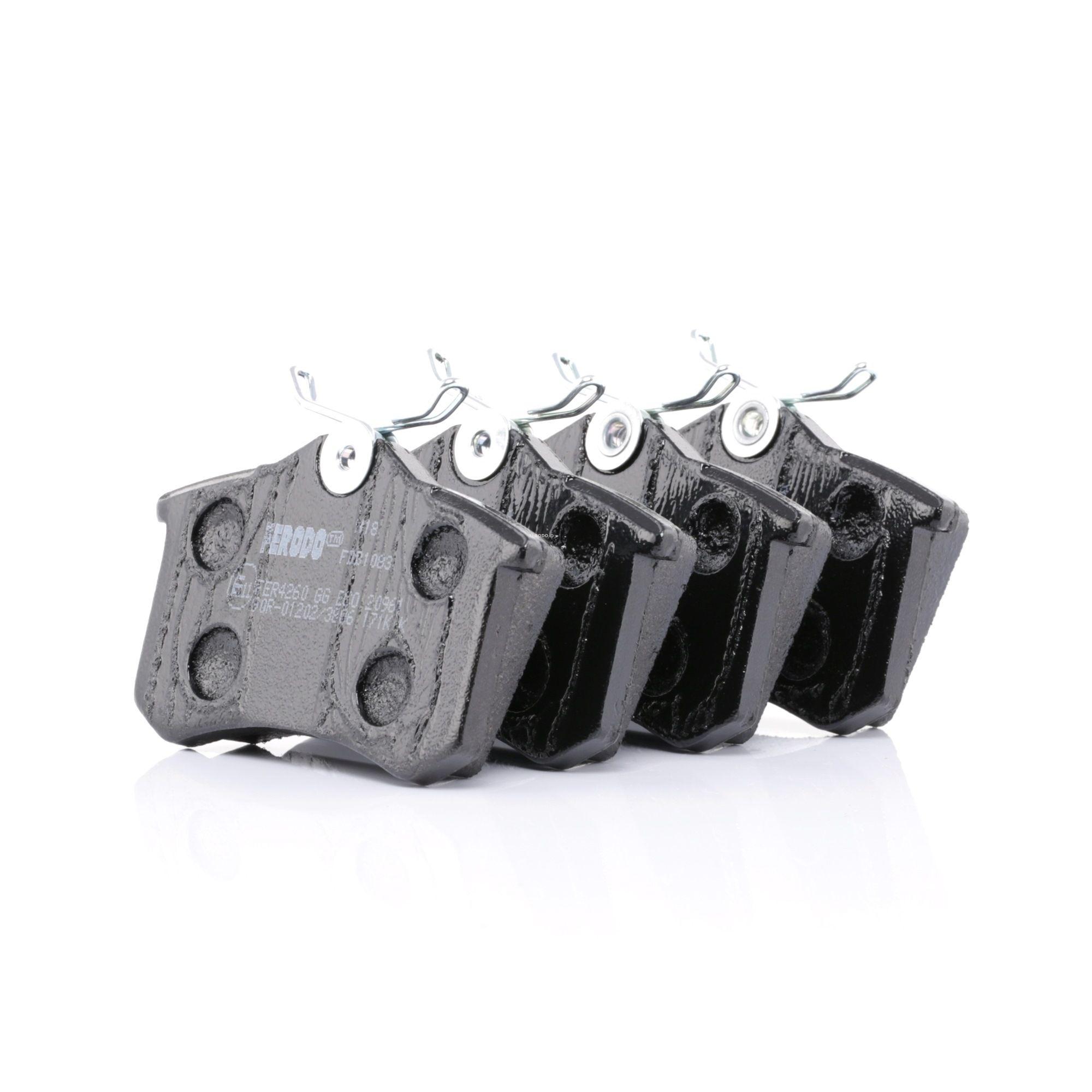 20961 FERODO PREMIER ECO FRICTION nicht für Verschleißwarnanzeiger vorbereitet, mit Bremssattelschrauben Höhe 1: 53mm, Dicke/Stärke: 17mm Bremsbelagsatz, Scheibenbremse FDB1083 günstig kaufen