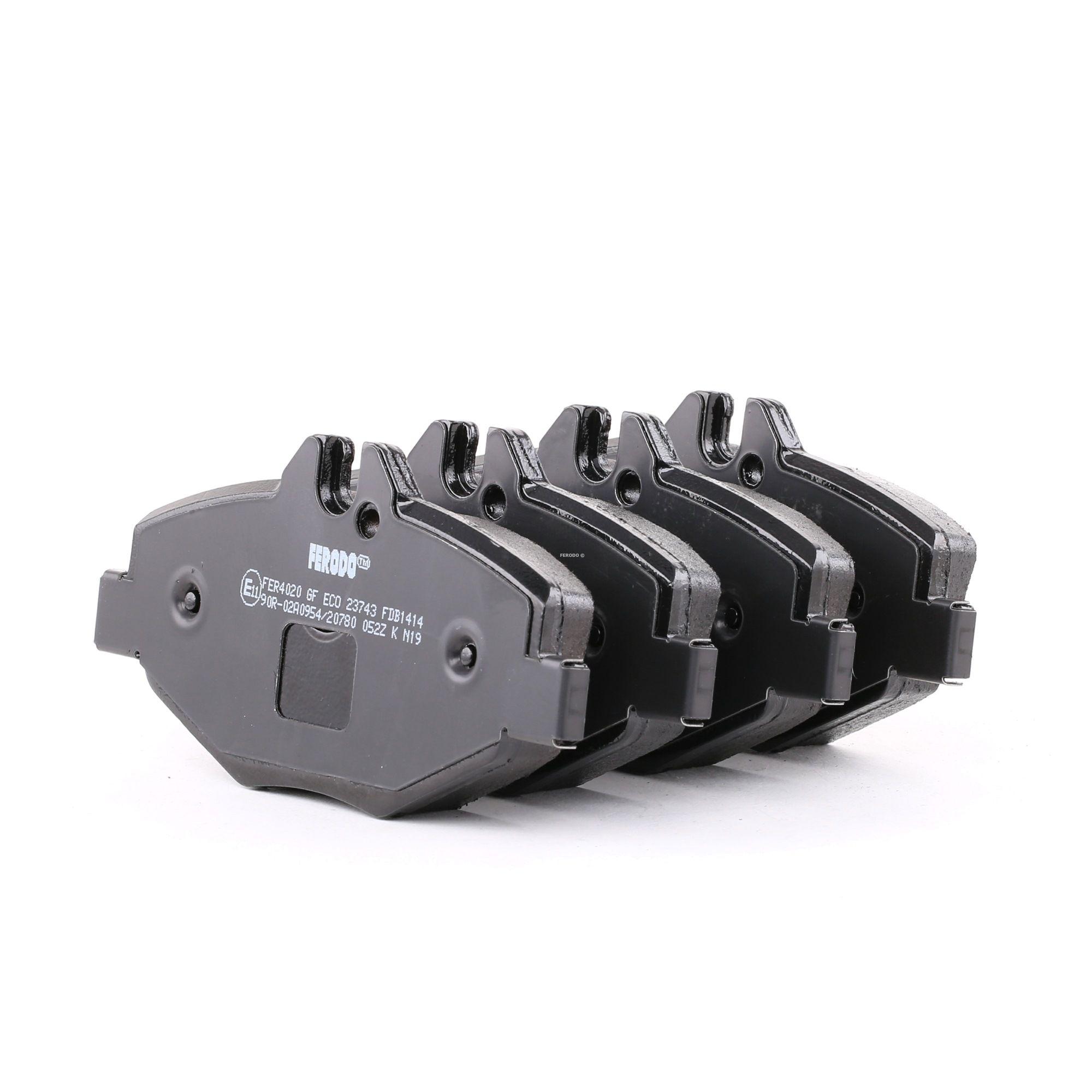 23744 FERODO PREMIER ECO FRICTION inkl. Verschleißwarnkontakt, mit Bremssattelschrauben Höhe 1: 68mm, Dicke/Stärke: 20,3mm Bremsbelagsatz, Scheibenbremse FDB1414 günstig kaufen