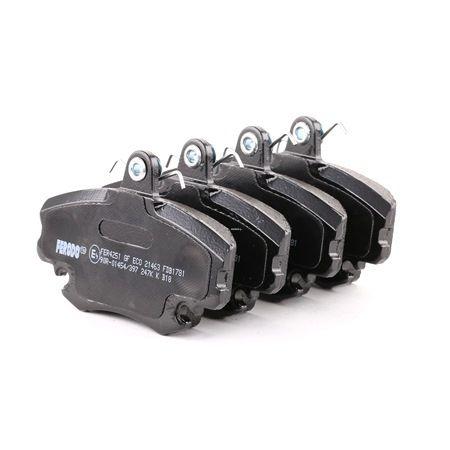 21463 FERODO PREMIER nicht für Verschleißwarnanzeiger vorbereitet, mit Bremssattelschrauben Höhe 1: 65mm, Dicke/Stärke: 18mm Bremsbelagsatz, Scheibenbremse FDB1781 günstig kaufen