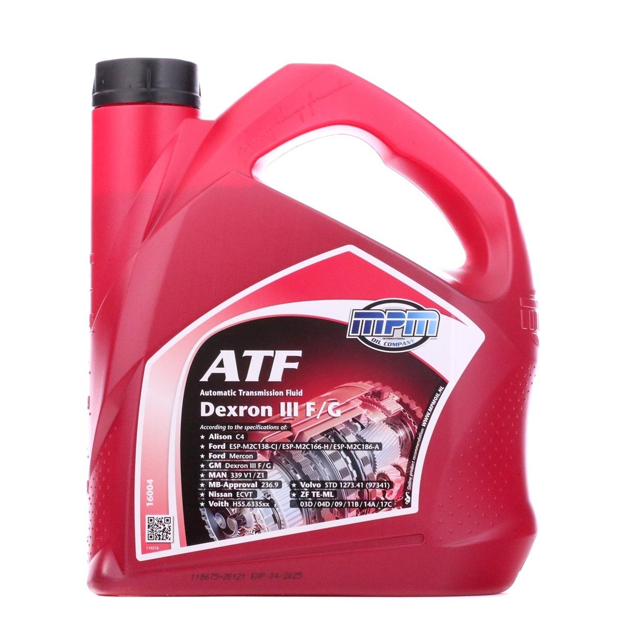 Olio cambio atf 16004 con un ottimo rapporto MPM qualità/prezzo