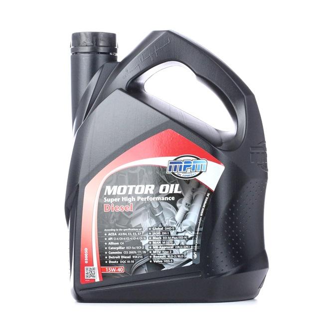 originali MPM Olio per motore 8714293030065 15W-40, 5l, Olio minerale