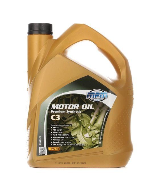 originali MPM Olio per auto 8714293050629 5W-40, 5l, Olio sintetico