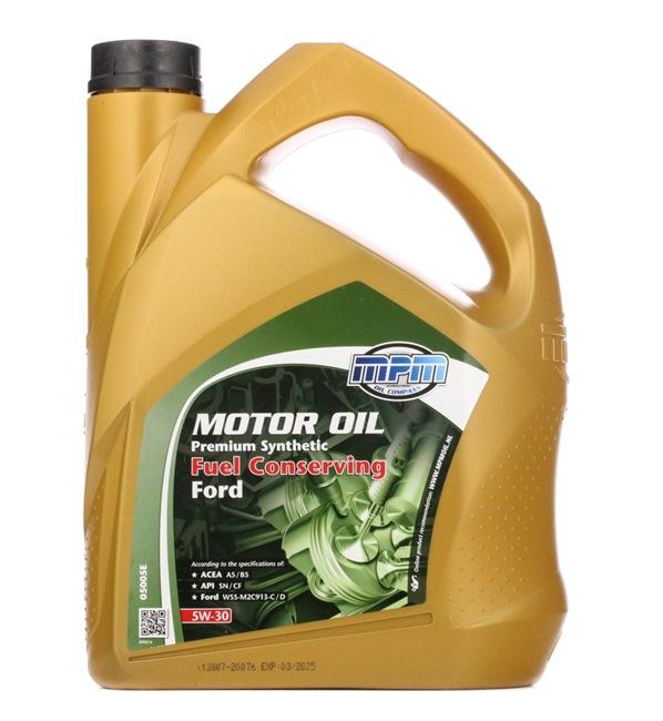 originali MPM Olio motore 8714293050223 5W-30, 5l, Olio sintetico