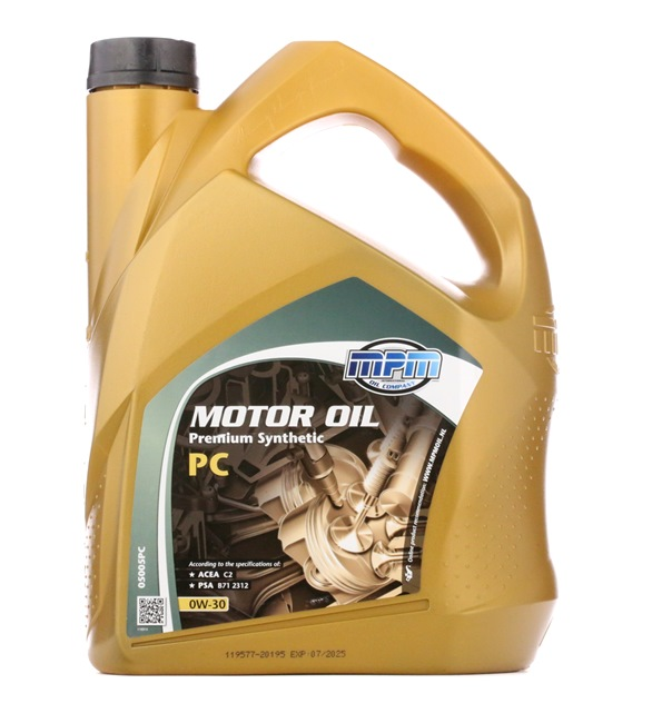 originali MPM Olio auto 8714293050537 0W-30, 5l, Olio sintetico