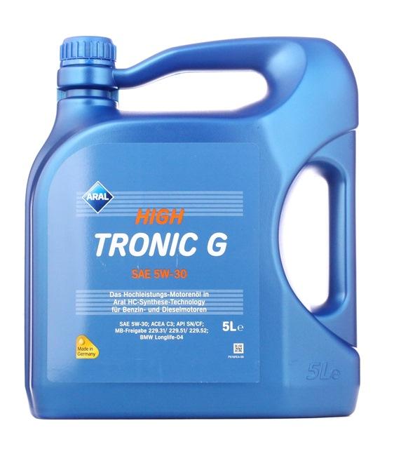 originali ARAL Olio per auto 4008177153181 5W-30, 5l, Olio sintetico