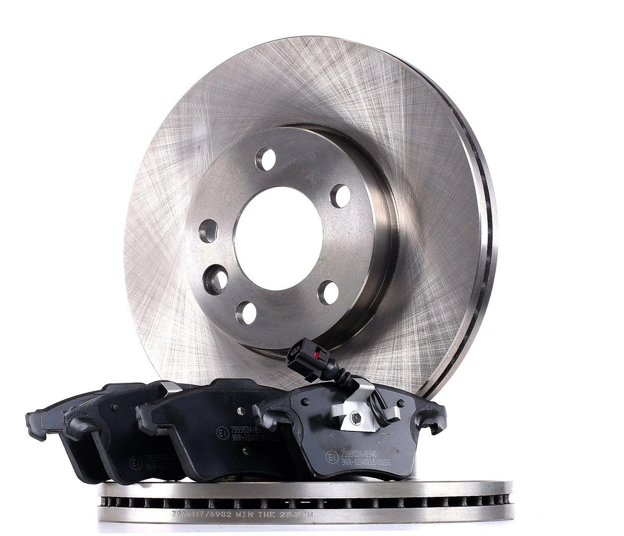 RIDEX: Original Bremsen Set 3405B0386 (Bremsscheibendicke: 10, 17,8mm)