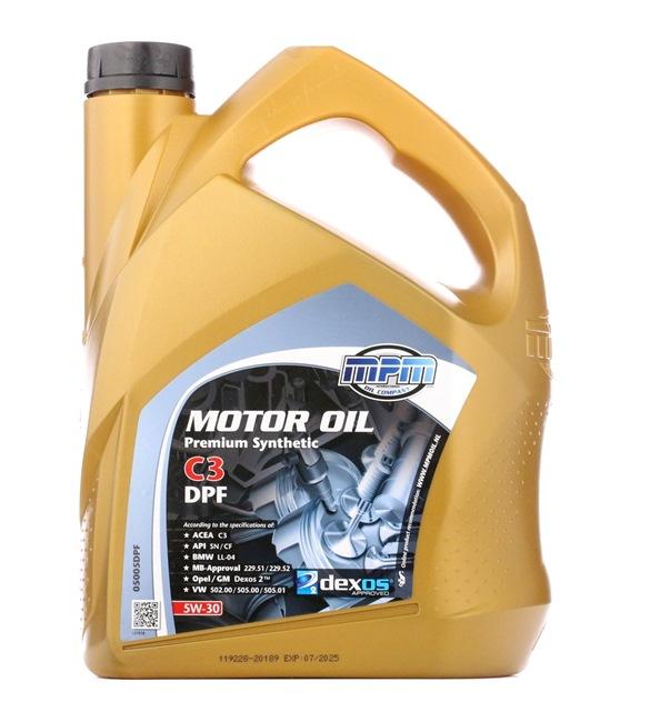 originali MPM Olio motore per auto 8714293050452 5W-30, 5l, Olio sintetico