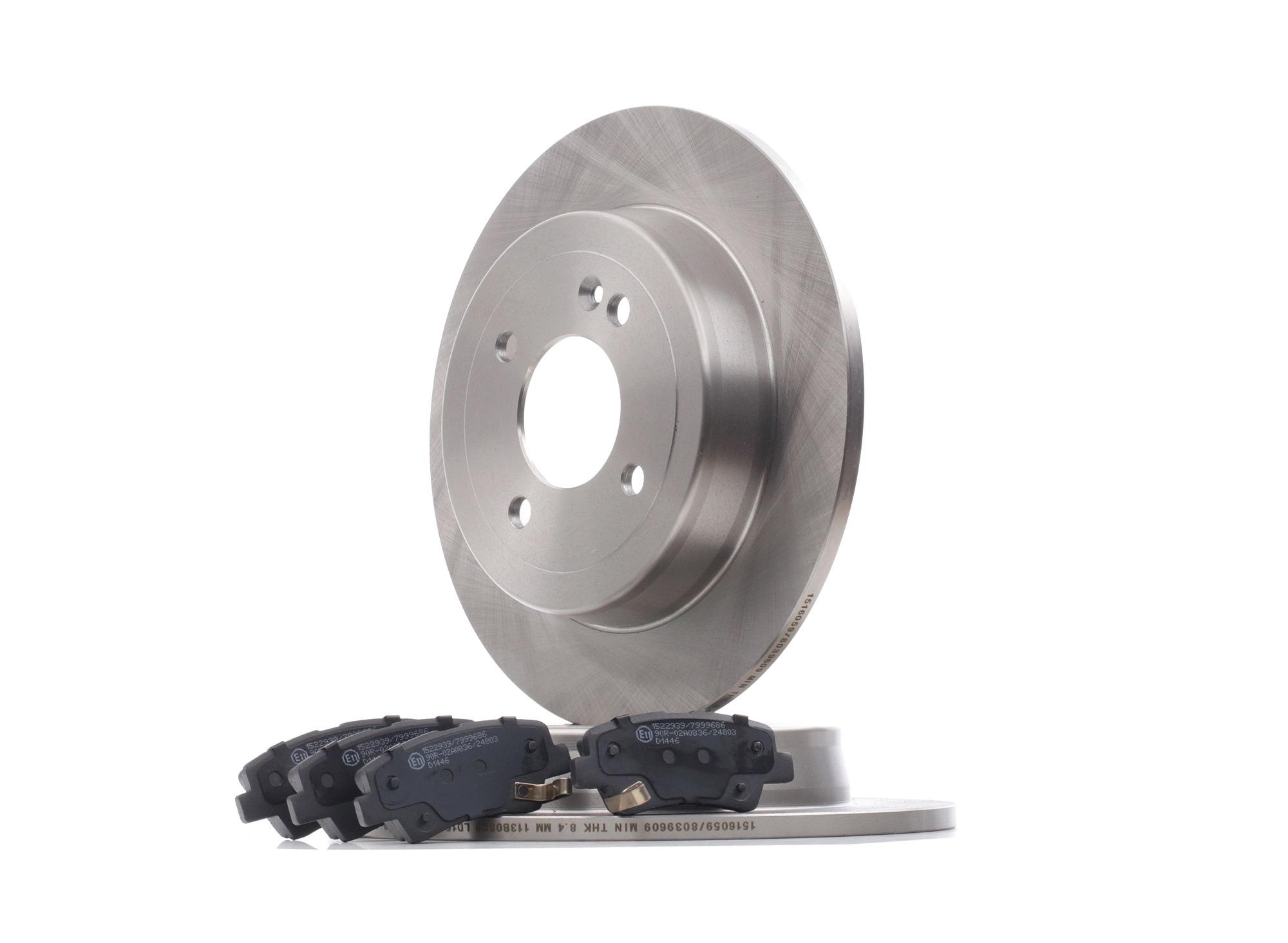 RIDEX: Original Bremsen Set 3405B0426 (Bremsscheibendicke: 10, 15,5mm)