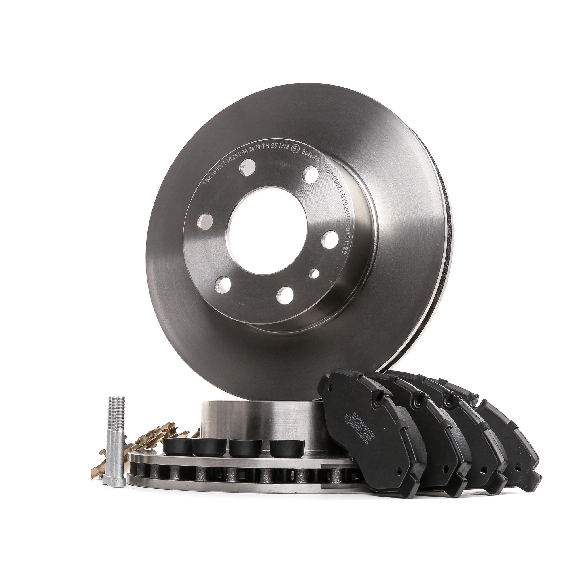 IVECO MASSIF Bremsscheiben und Beläge - Original RIDEX 3405B0450 Bremsscheibendicke: 28mm