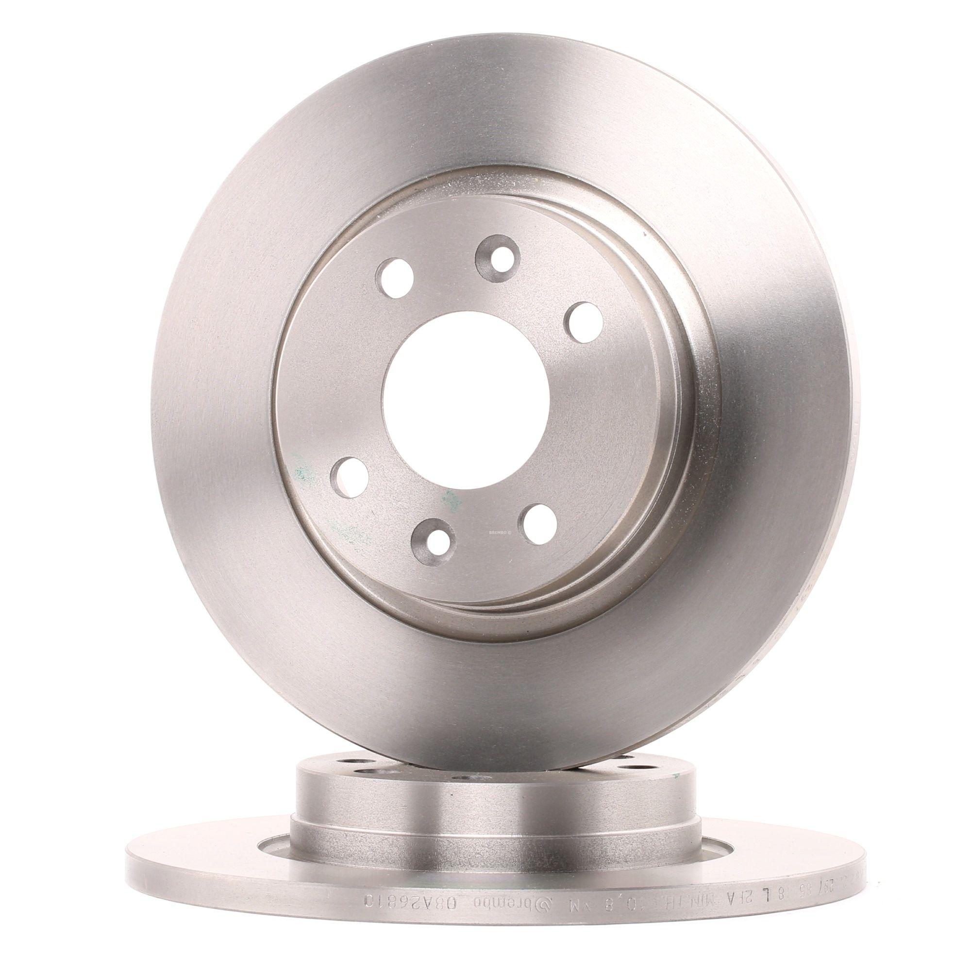 08.A268.10 BREMBO Voll, mit Schrauben Ø: 260mm, Lochanzahl: 4, Bremsscheibendicke: 12mm Bremsscheibe 08.A268.10 günstig kaufen