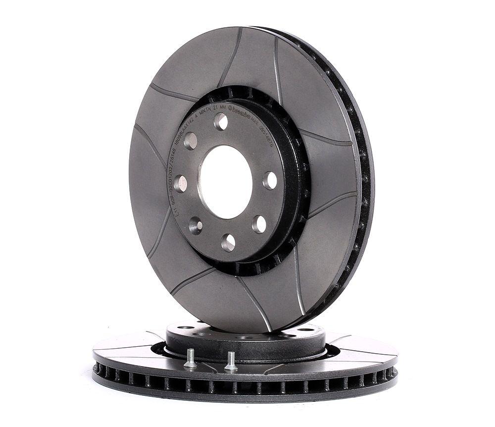 Bremsscheiben OPEL Astra F Classic CC (T92) hinten und vorne 2000 - BREMBO 09.5148.76 (Ø: 256mm, Lochanzahl: 4, Bremsscheibendicke: 24mm)