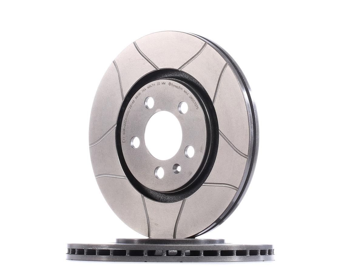 Achetez Disque BREMBO 09.5570.75 (Ø: 280mm, Nbre de trous: 5, Épaisseur du disque de frein: 22mm) à un rapport qualité-prix exceptionnel