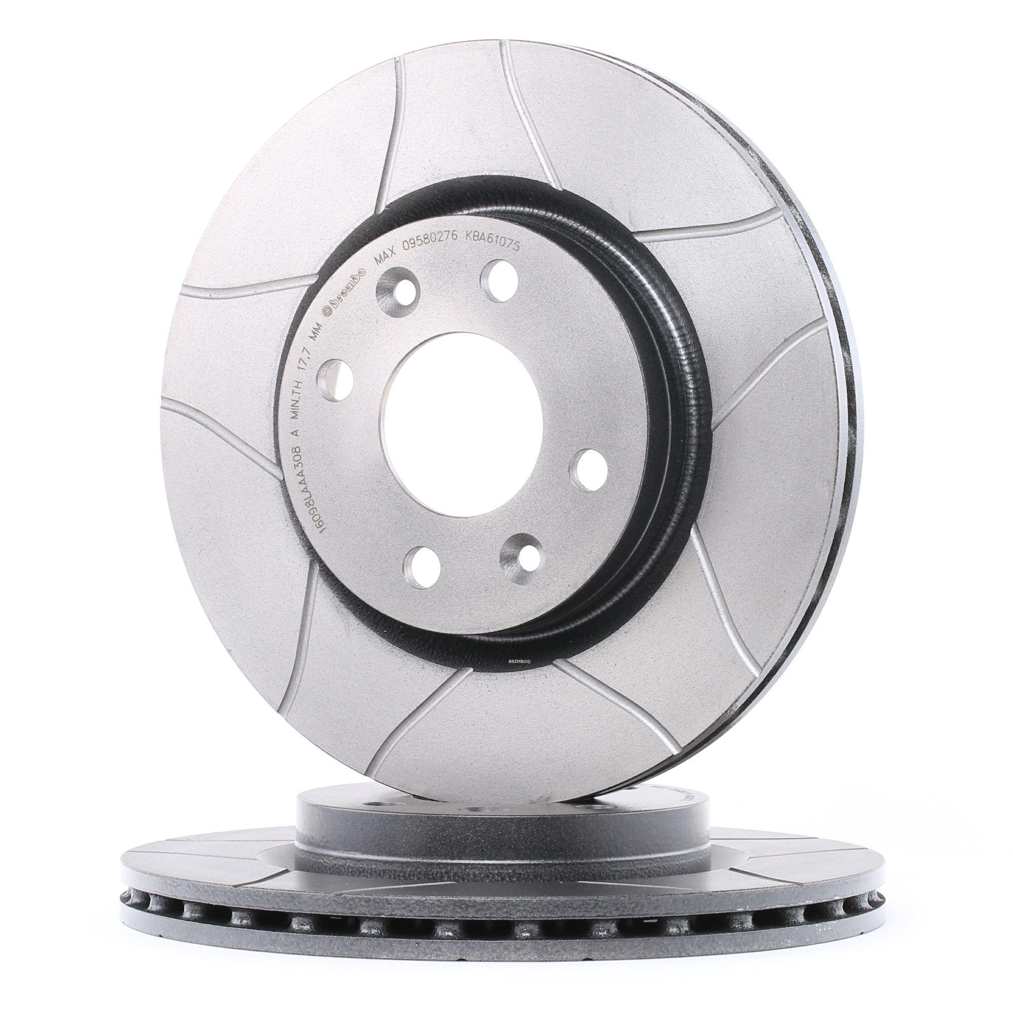 BREMBO 09.5802.76 (Ø: 259mm, Nbre de trous: 4, Épaisseur du disque de frein: 20,6mm) : Système de freinage Renault Kangoo kc01 2014