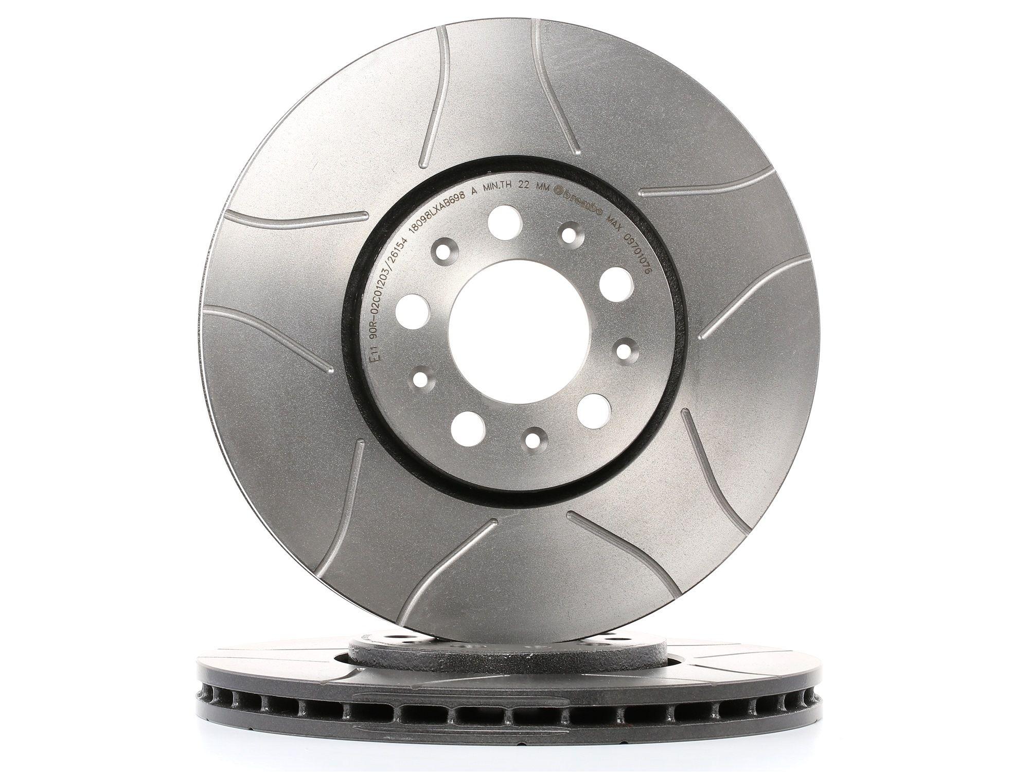 Buy original Brake disc set BREMBO 09.7010.76