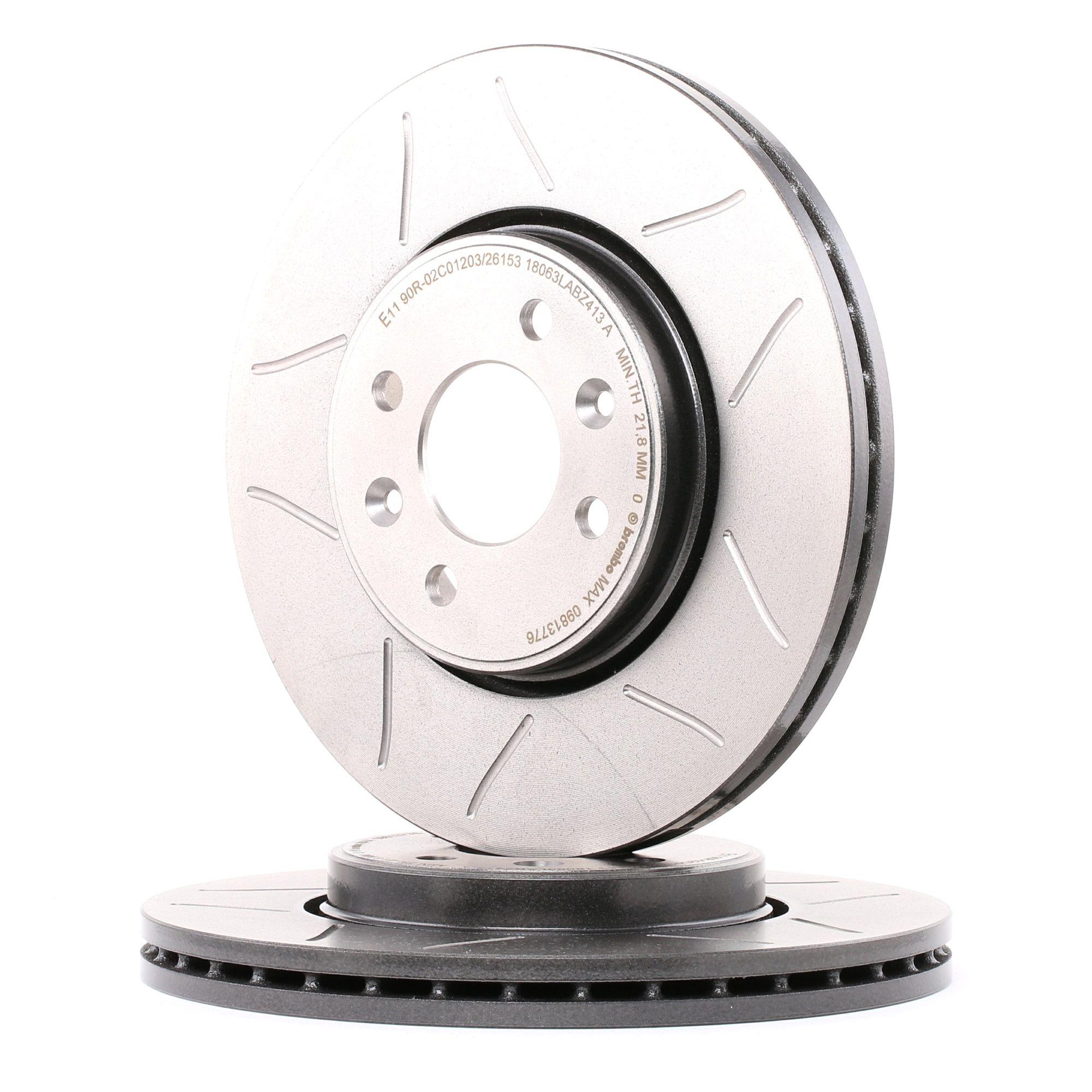Achetez Disques de frein BREMBO 09.8137.76 (Ø: 280mm, Nbre de trous: 4, Épaisseur du disque de frein: 24mm) à un rapport qualité-prix exceptionnel